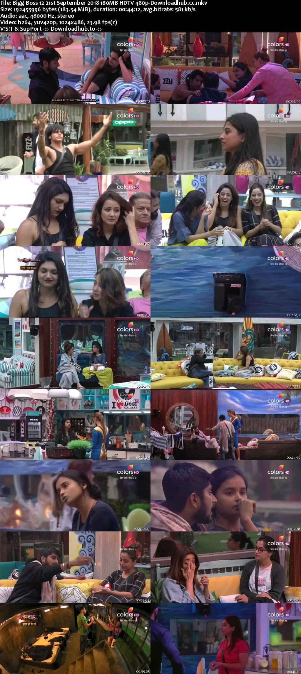 Bigg Boss 12 21 September 2018 Episode 05 HDTV 480p