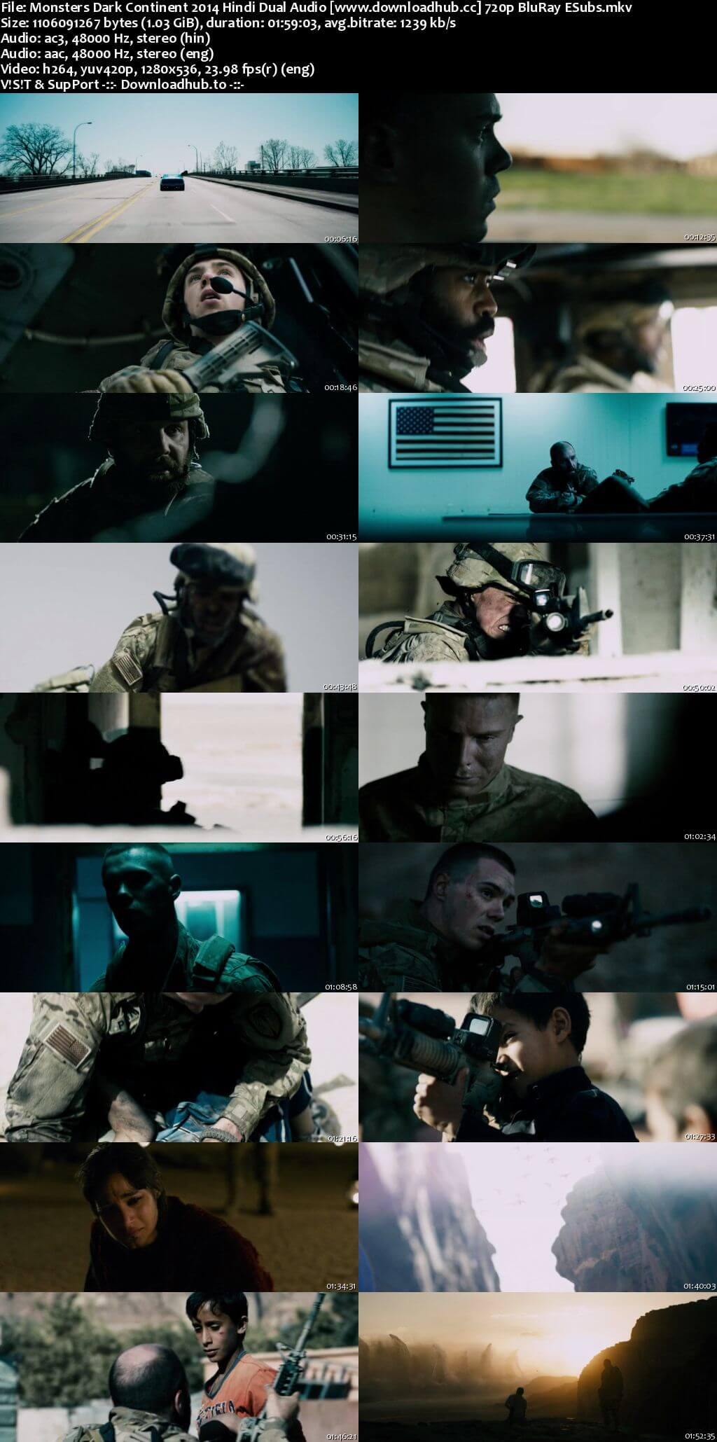 Monsters Dark Continent 2014 Hindi Dual Audio 720p BluRay ESubs