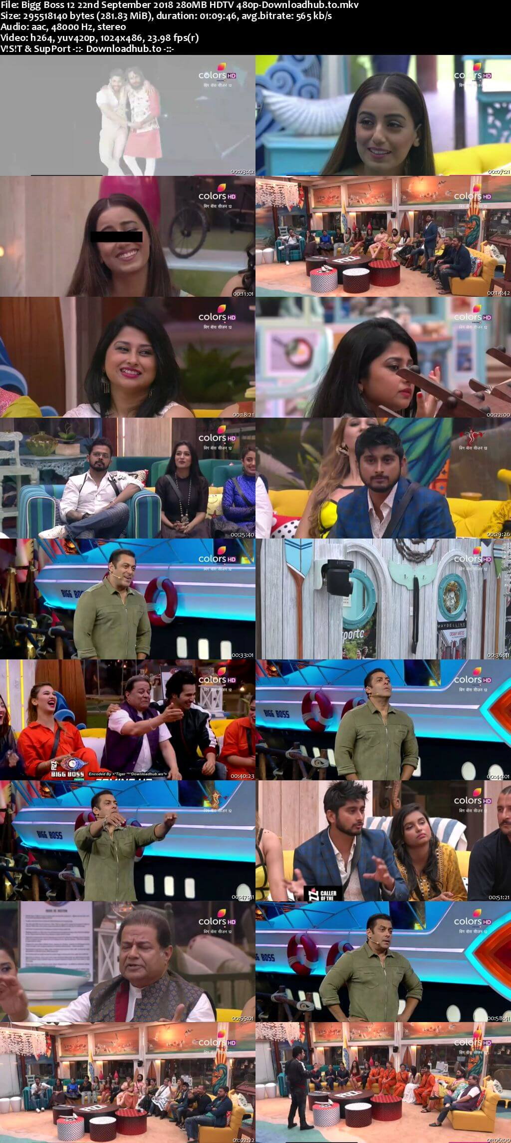 Bigg Boss 12 22 September 2018 Episode 06 HDTV 480p