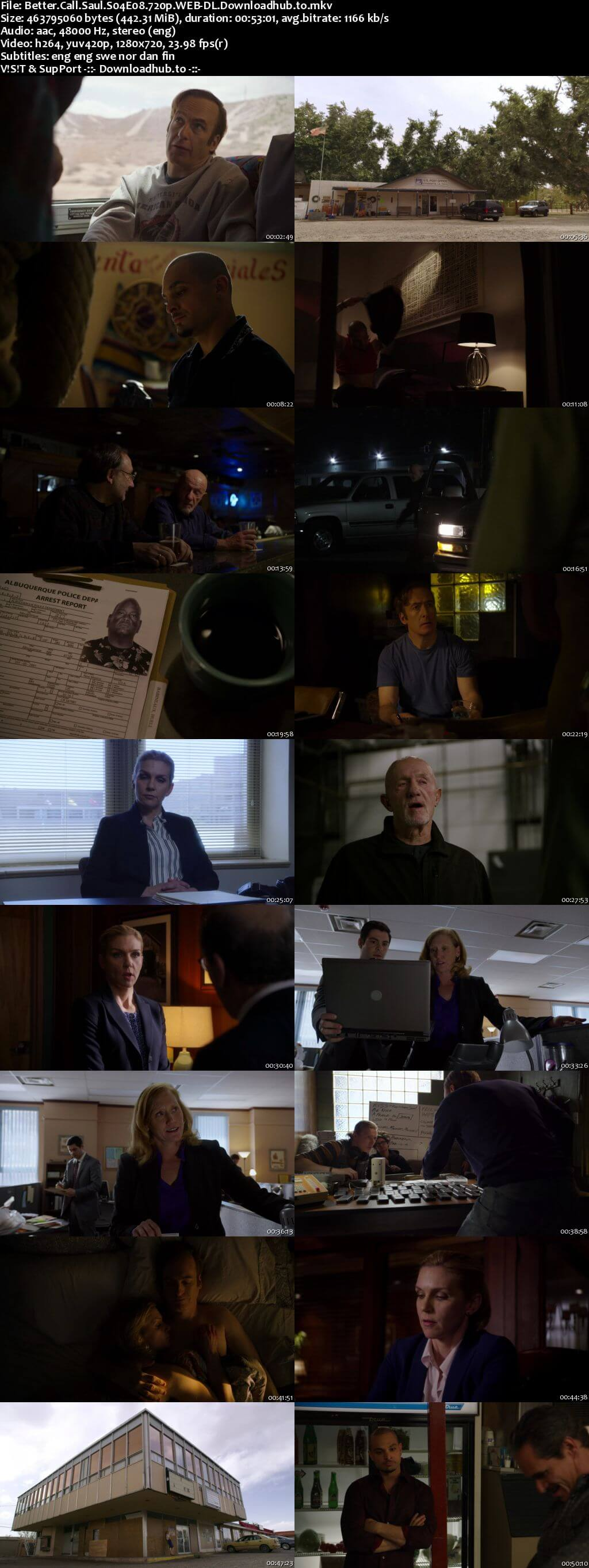 Better Call Saul S04E08 440MB WEB-DL 720p x264 MSubs
