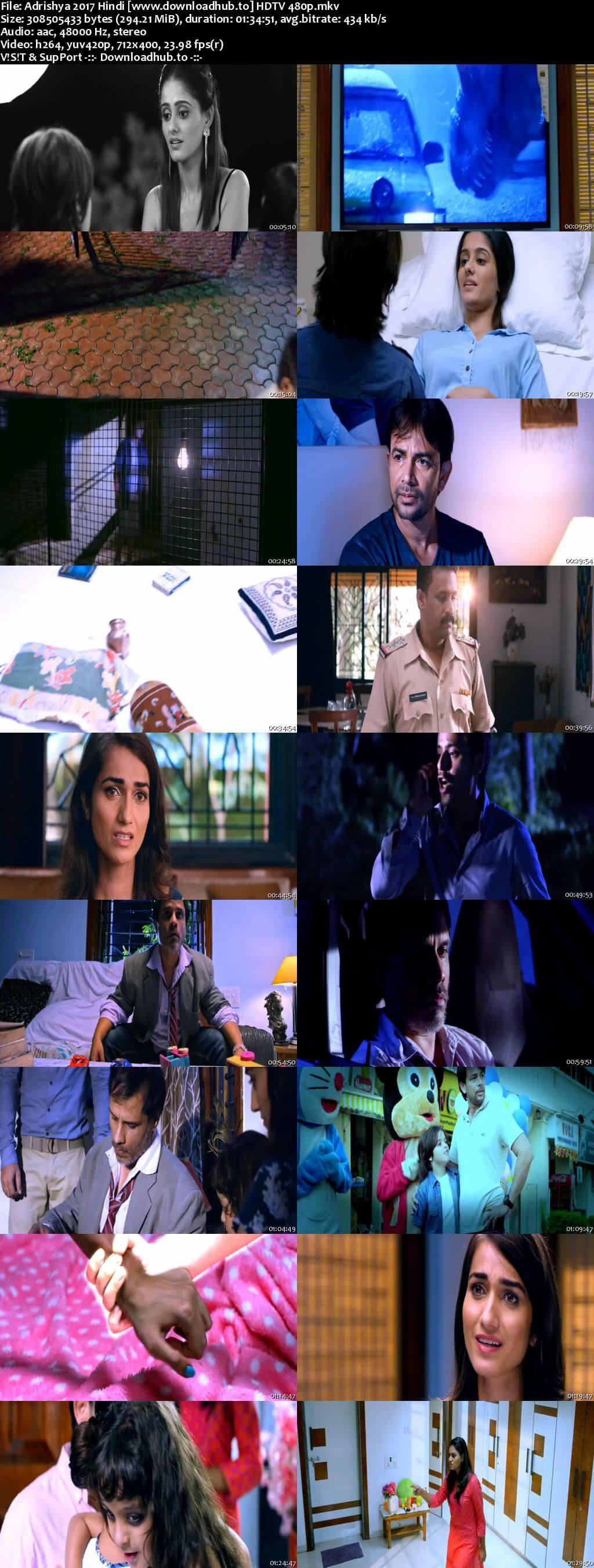 Adrishya 2017 Hindi 300MB HDTV 480p