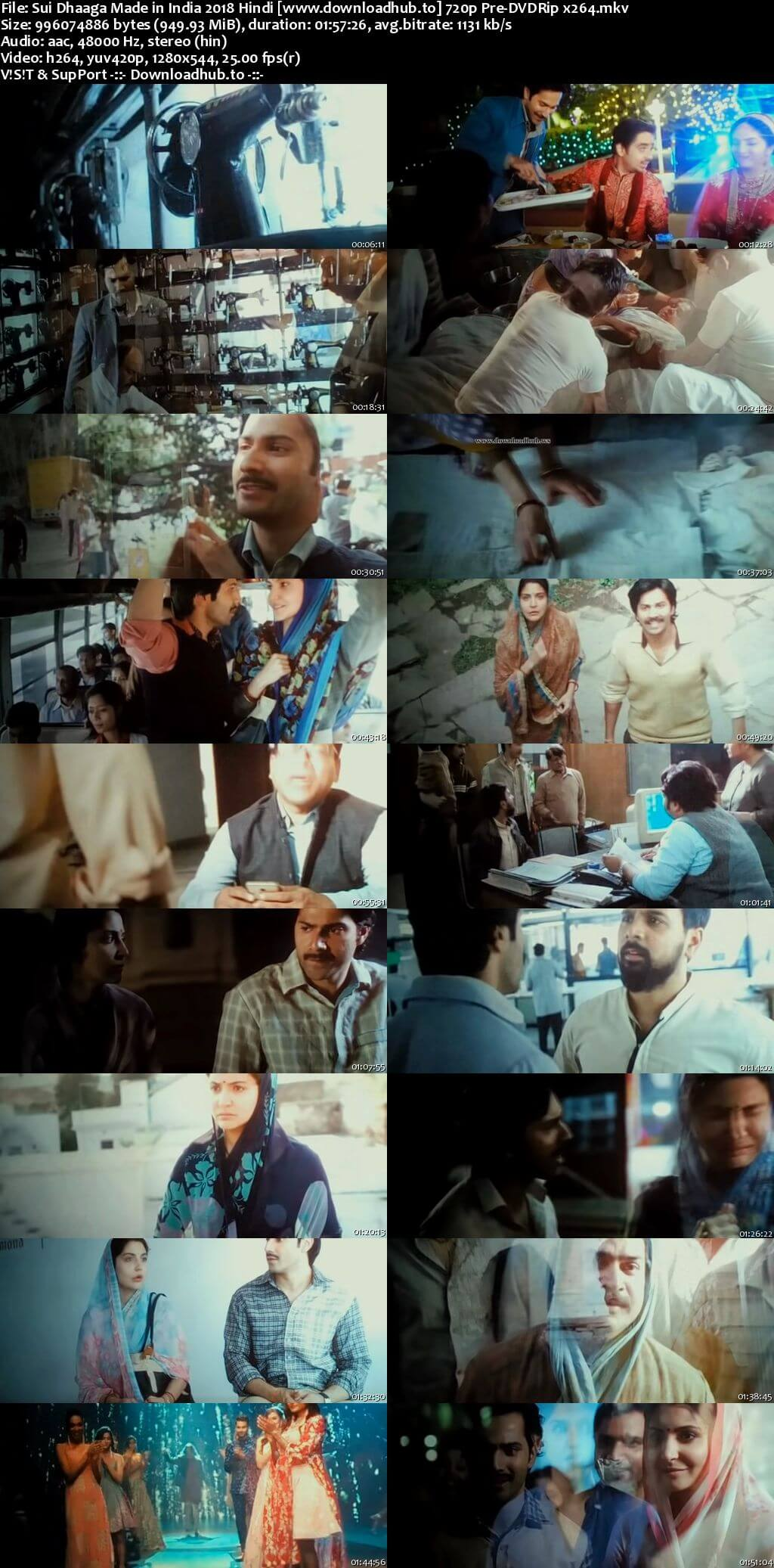 Sui Dhaaga Made in India 2018 Hindi 720p Pre-DVDRip x264