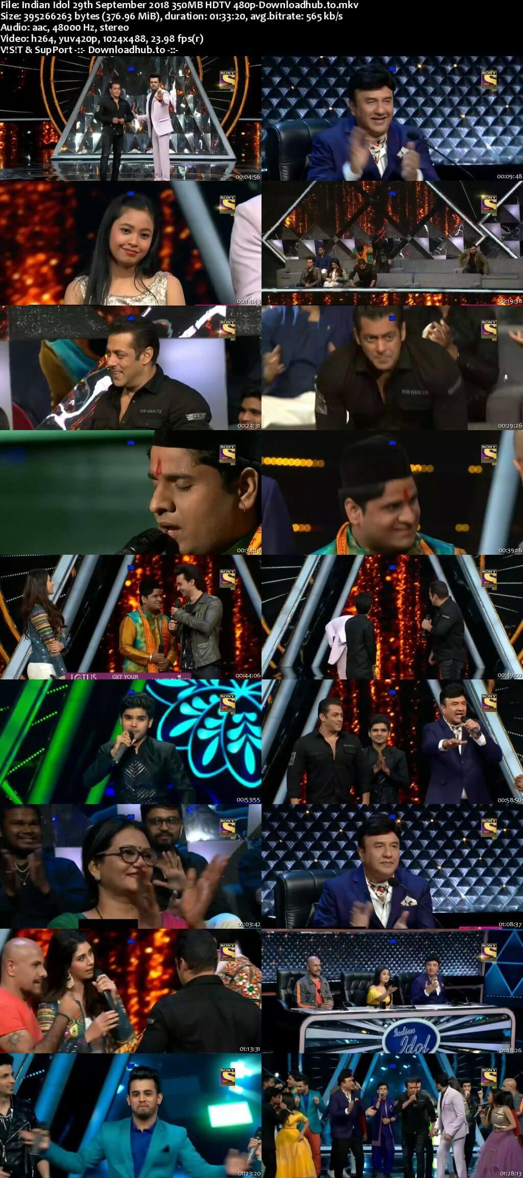 Indian Idol 29 September 2018 Episode 25 HDTV 480p