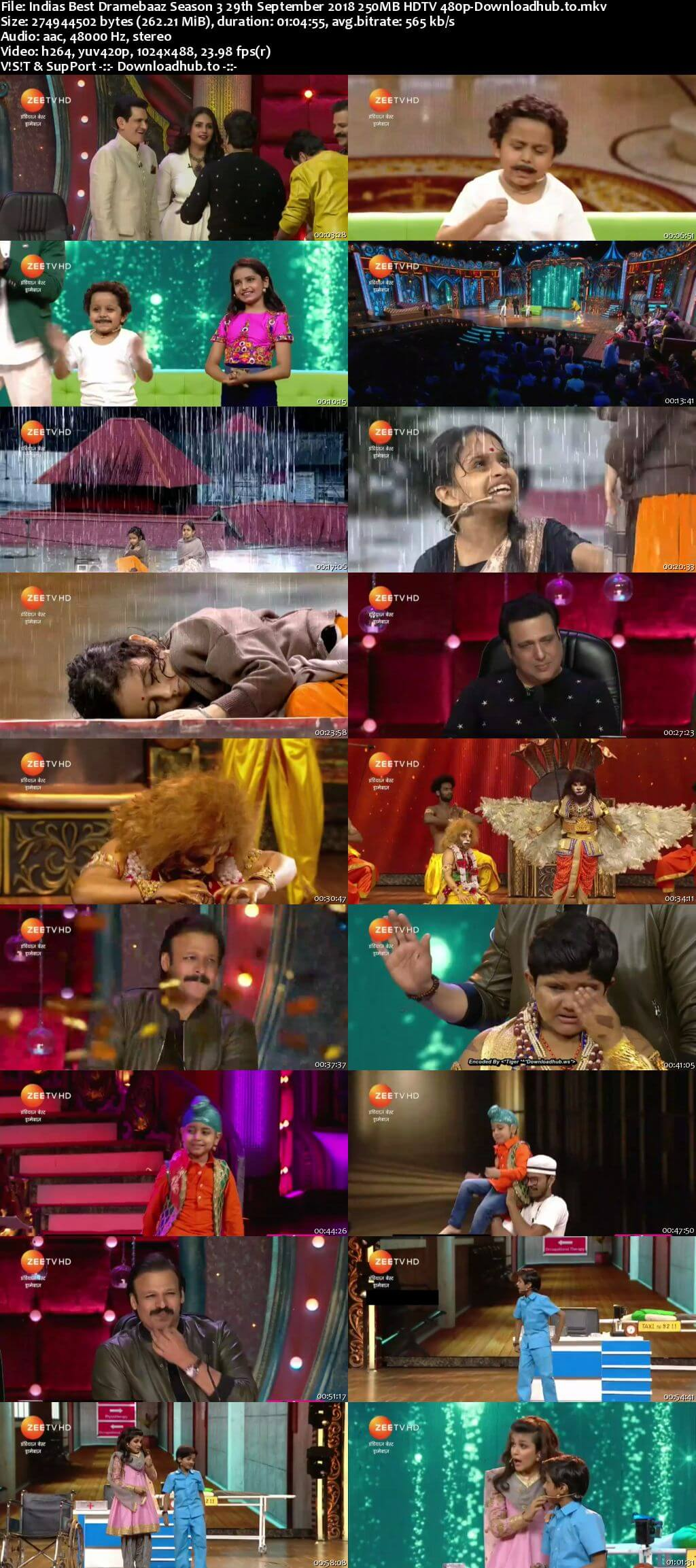 Indias Best Dramebaaz Season 3 29 September 2018 Episode 27 HDTV 480p