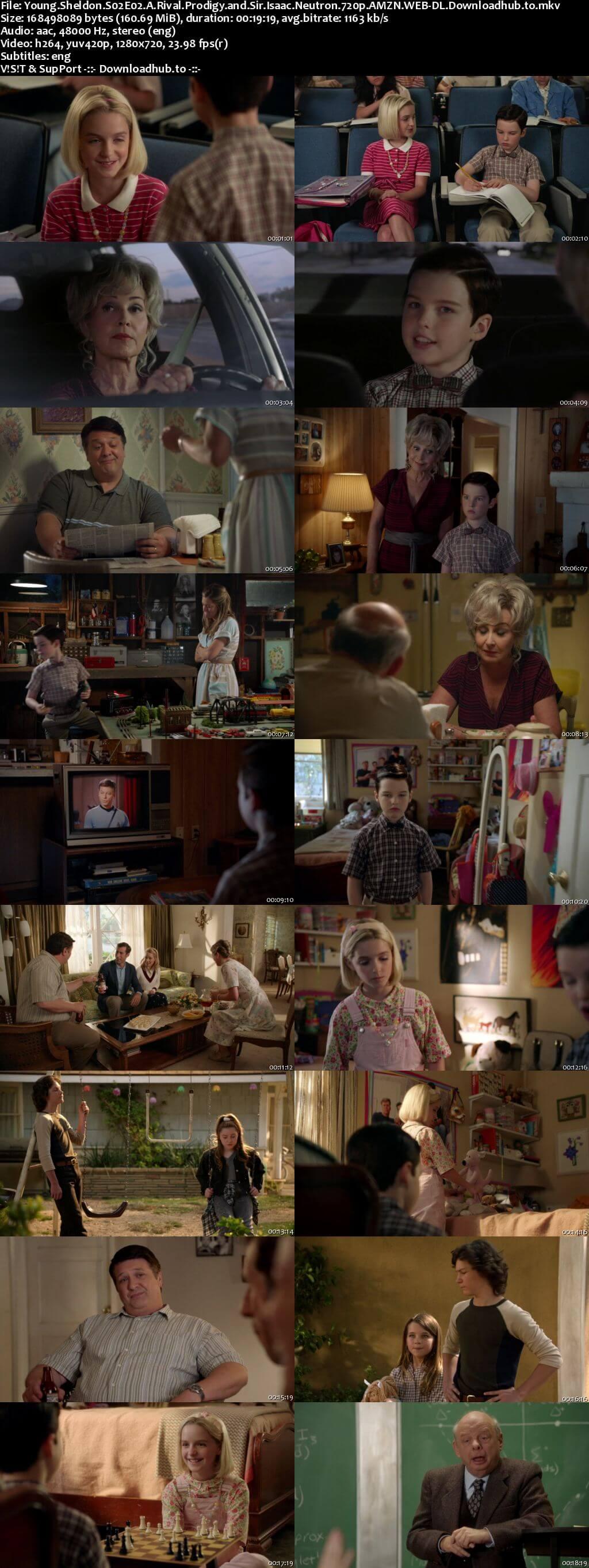 Young Sheldon S02E02 160MB AMZN WEB-DL 720p ESubs