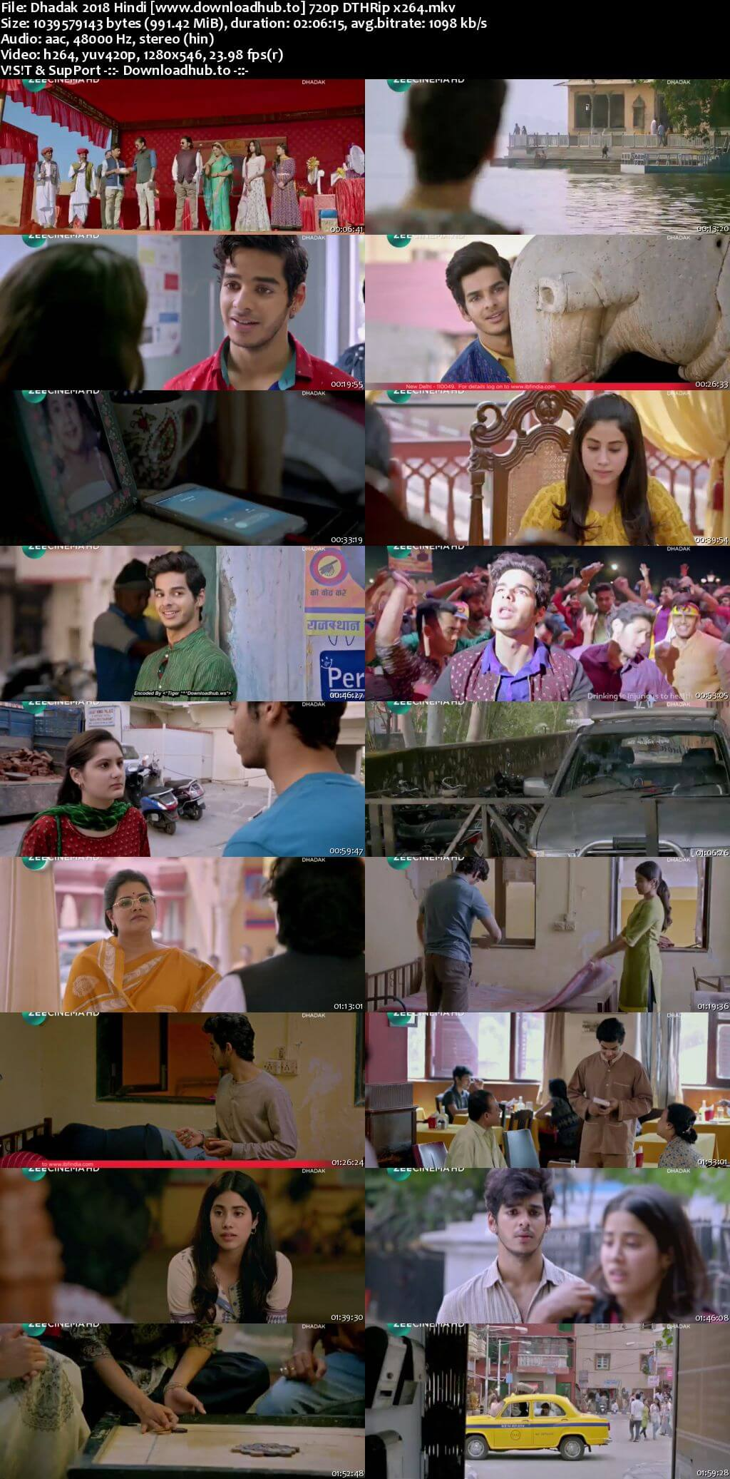Dhadak 2018 Hindi 720p DTHRip x264