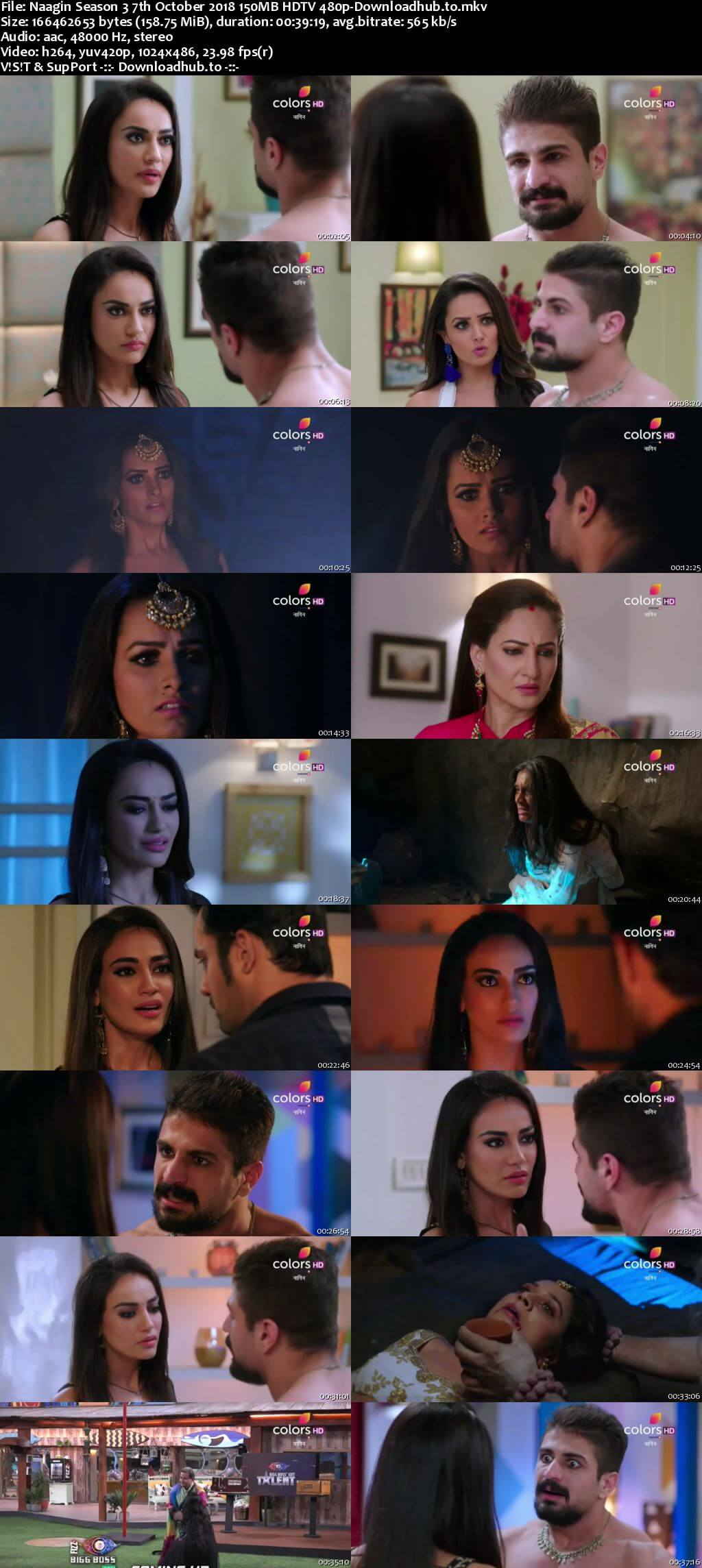 Naagin Season 3 07 October 2018 Episode 37 HDTV 480p