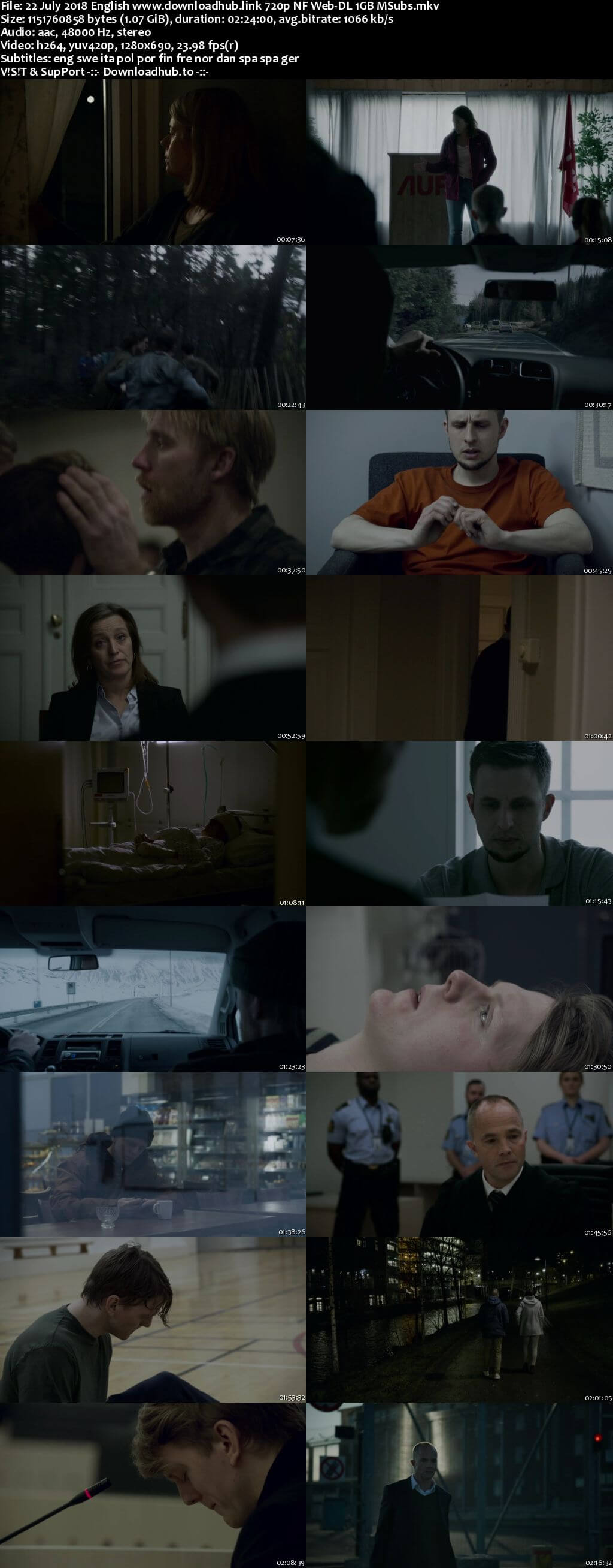 22 July 2018 English 720p NF Web-DL 1GB MSubs