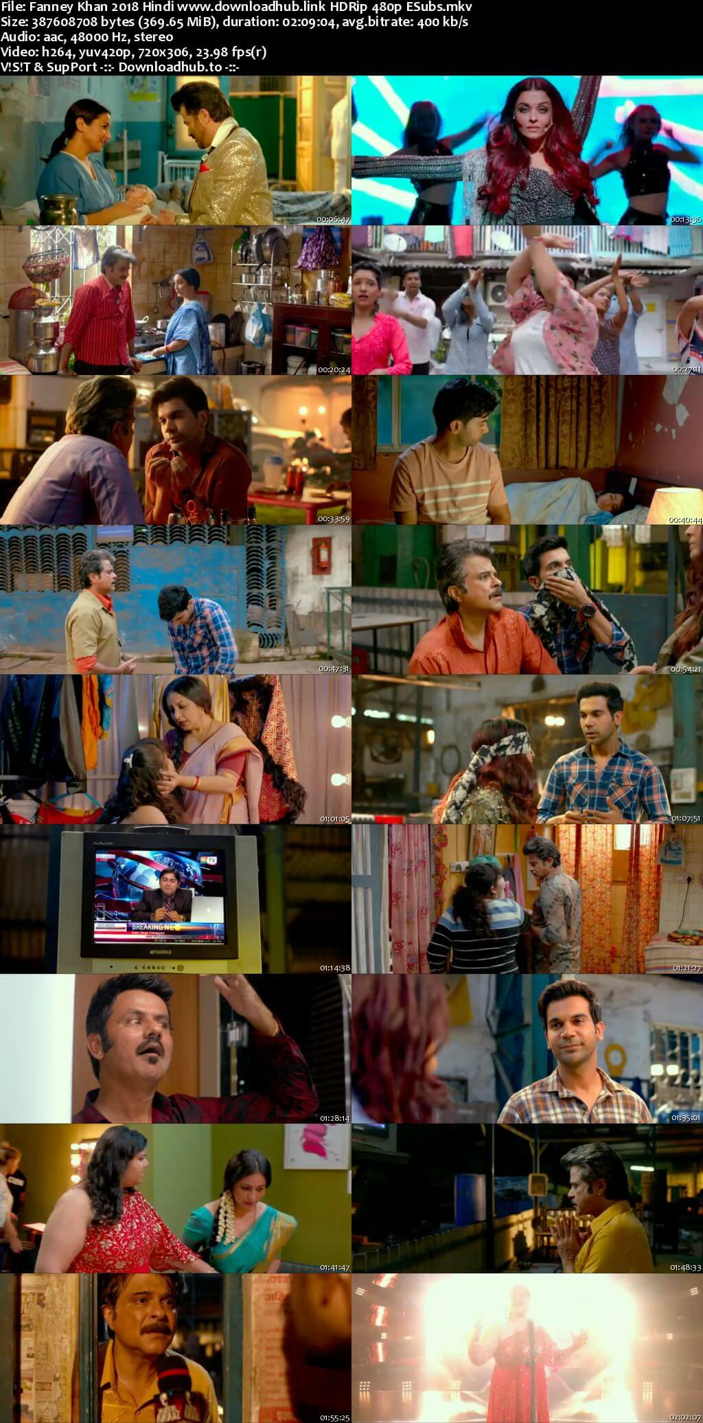 Fanney Khan 2018 Hindi 350MB HDRip 480p ESubs
