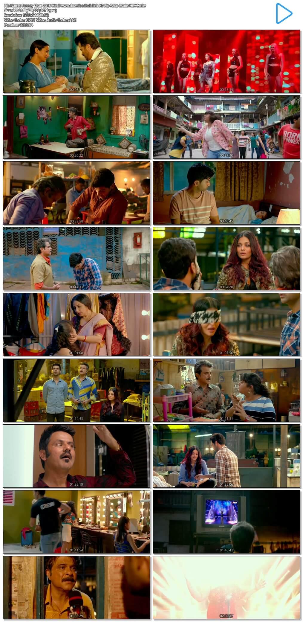 Fanney Khan 2018 Hindi 600MB HDRip 720p ESubs HEVC