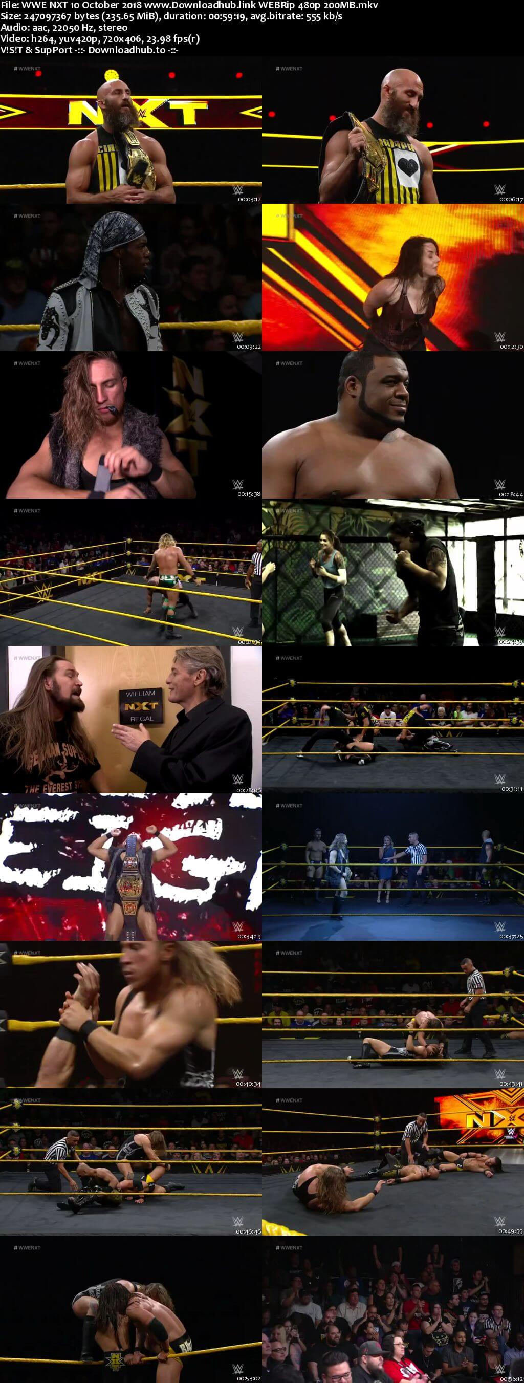 WWE NXT 10th October 2018 200MB HDTV 480p