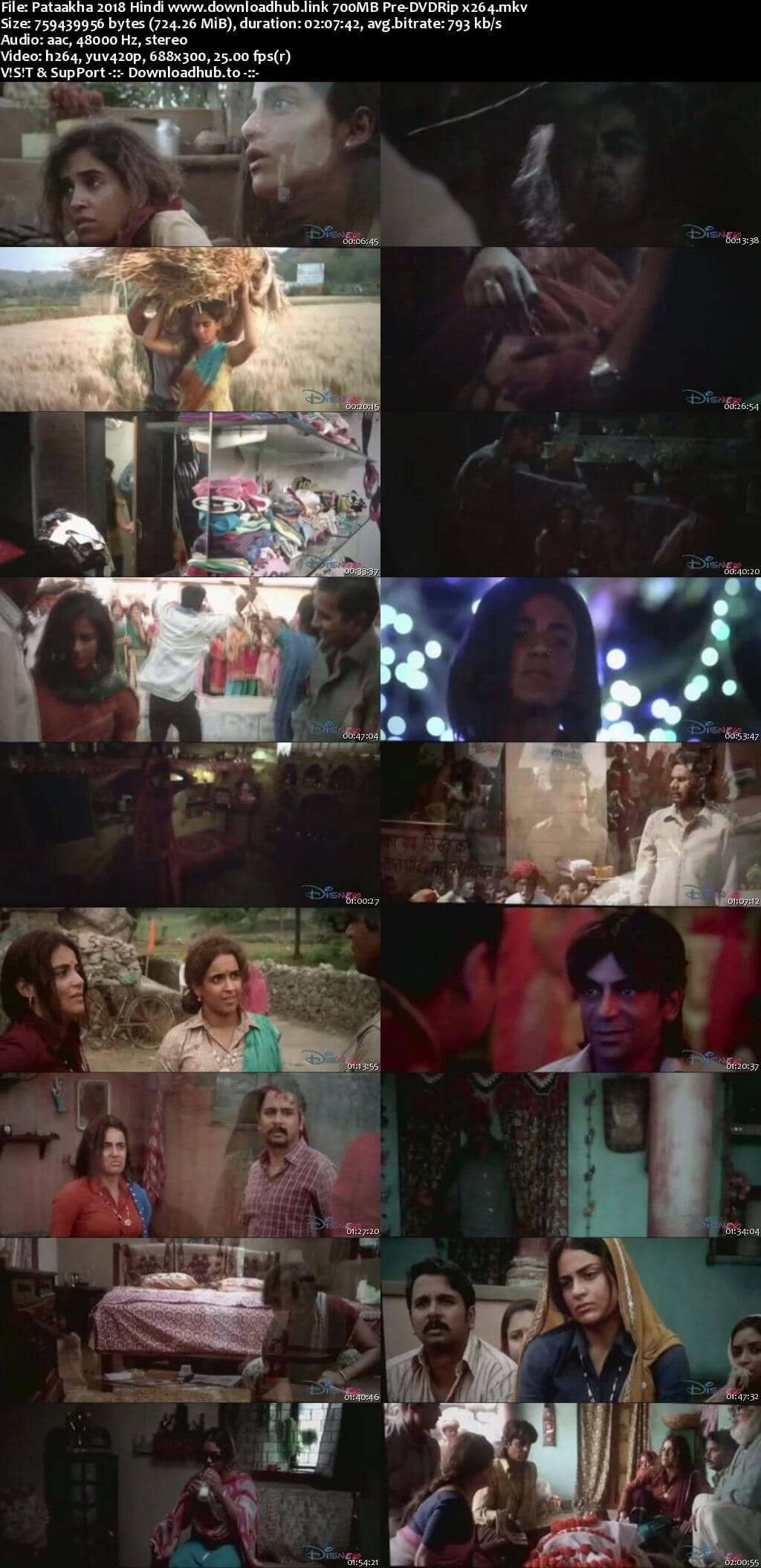 Pataakha 2018 Hindi 700MB Pre-DVDRip x264