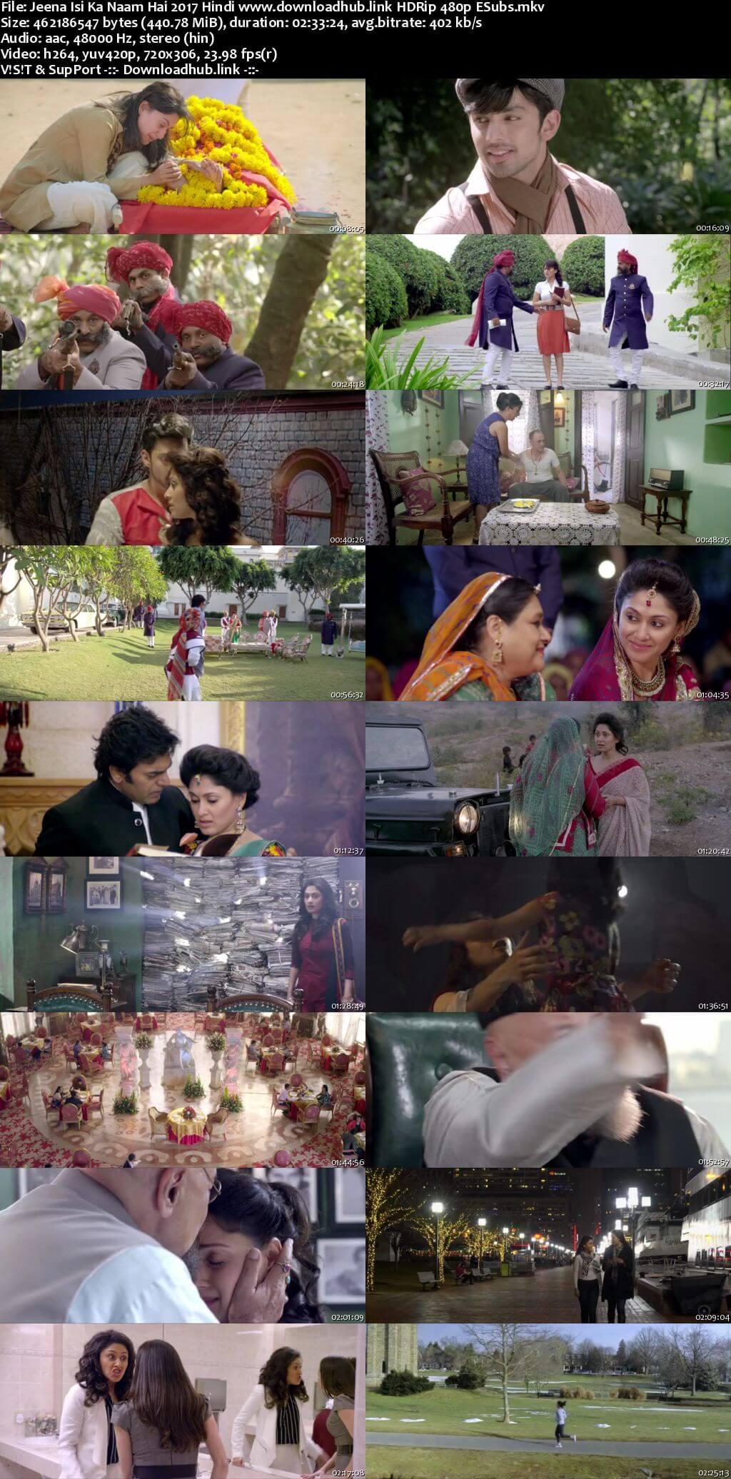 Jeena Isi Ka Naam Hai 2017 Hindi 450MB HDRip 480p ESubs