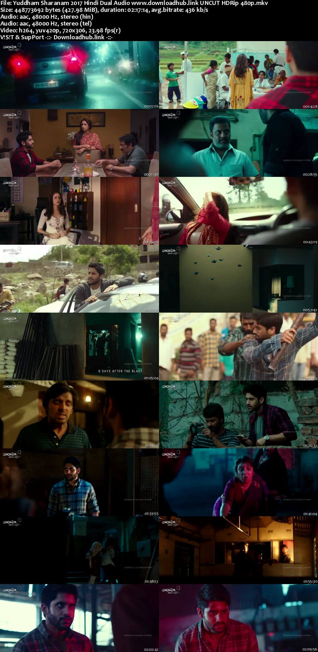 Yuddham Sharanam 2017 Hindi Dual Audio 400MB UNCUT HDRip 480p