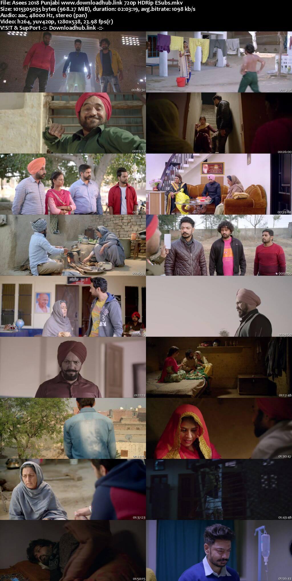 Asees 2018 Punjabi 720p HDRip ESubs