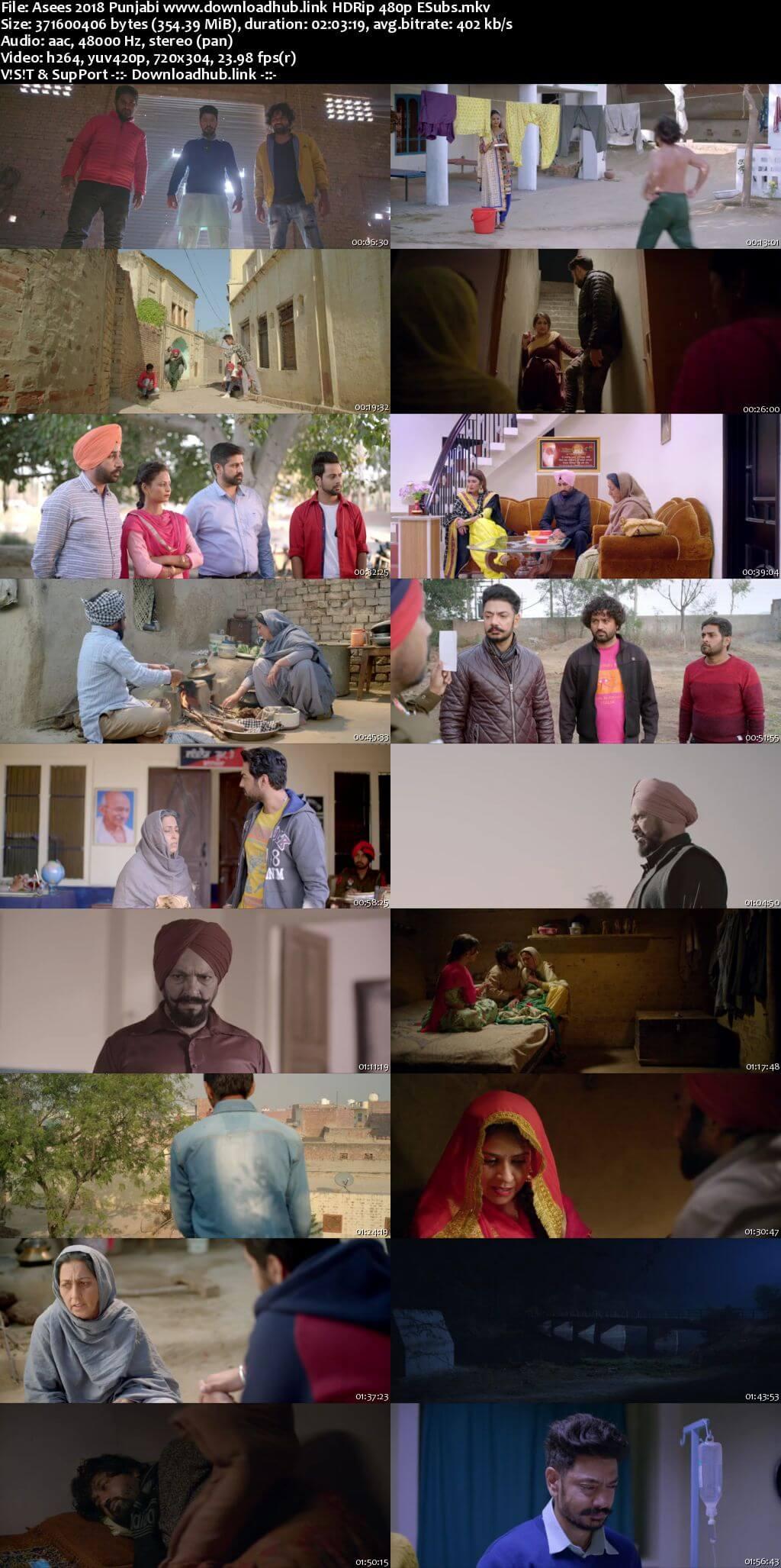 Asees 2018 Punjabi 350MB HDRip 480p ESubs