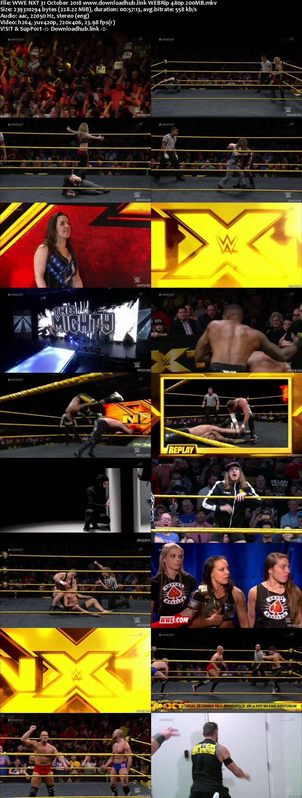 WWE NXT 31st October 2018 200MB HDTV 480p