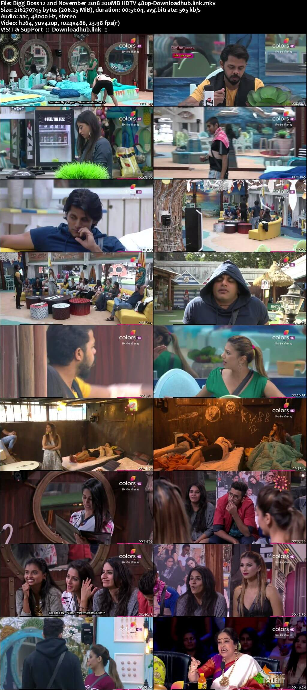 Bigg Boss 12 02 November 2018 Episode 47 HDTV 480p
