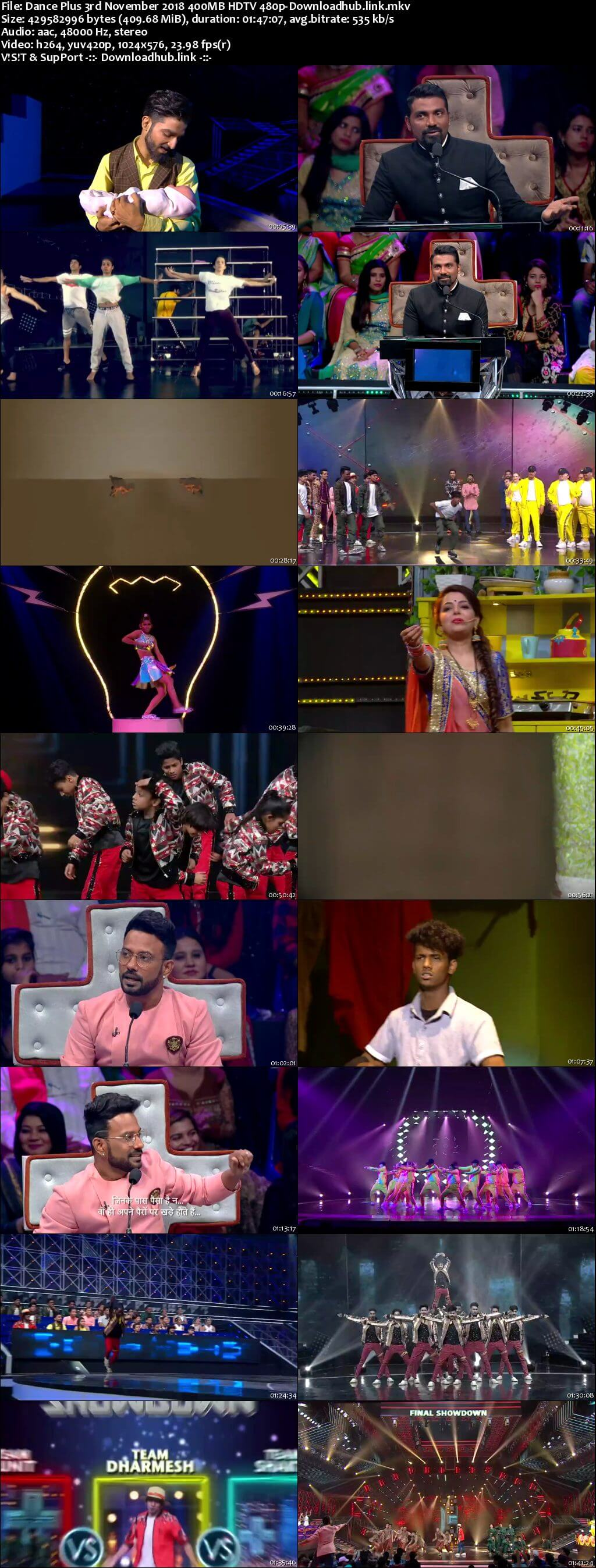 Dance Plus Season 4 03 November 2018 Episode 09 HDTV 480p