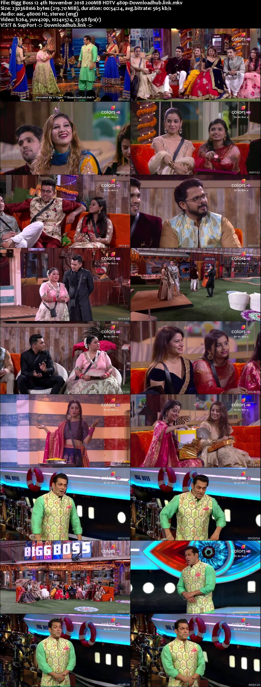 Bigg Boss 12 04 November 2018 Episode 49 HDTV 480p