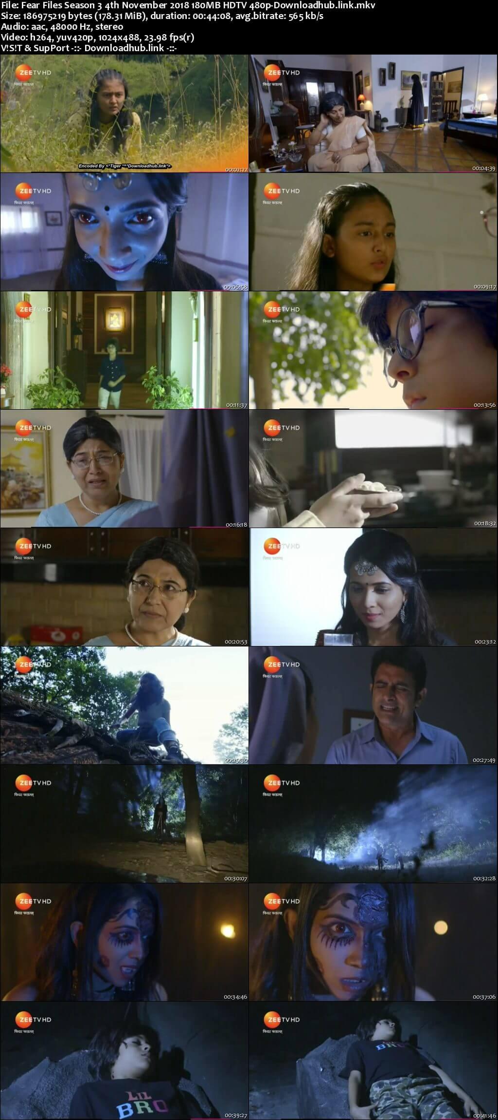 Fear Files Season 3 4th November 2018 180MB HDTV 480p