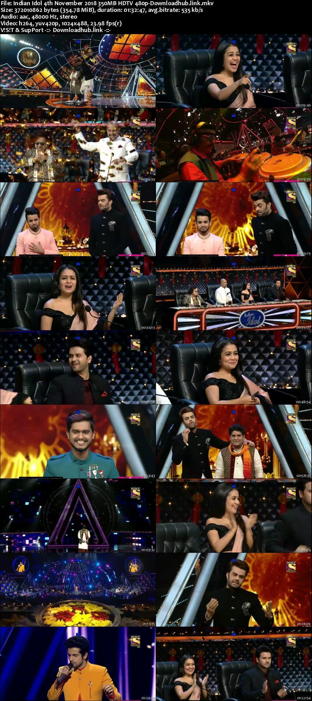 Indian Idol 04 November 2018 Episode 36 HDTV 480p