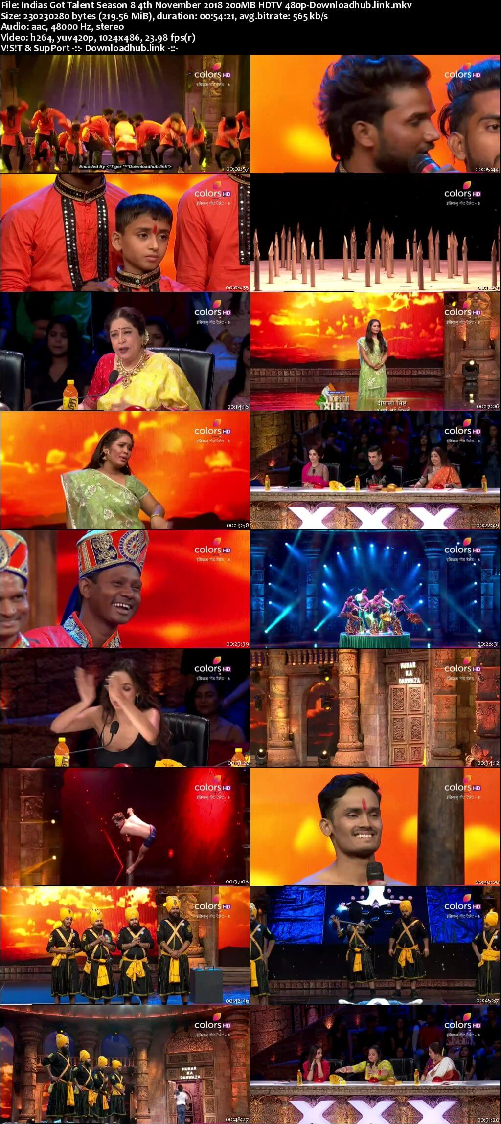 Indias Got Talent Season 8 04 November 2018 Episode 06 HDTV 480p