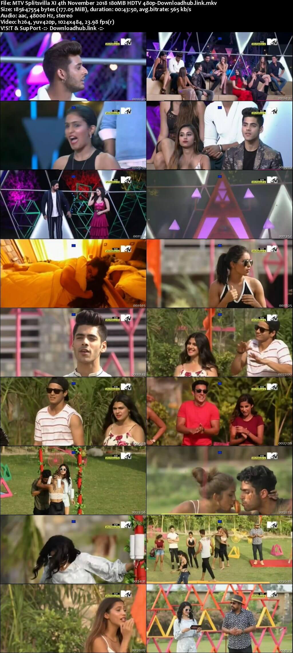 MTV Splitsvilla XI 4th November 2018 180MB HDTV 480p