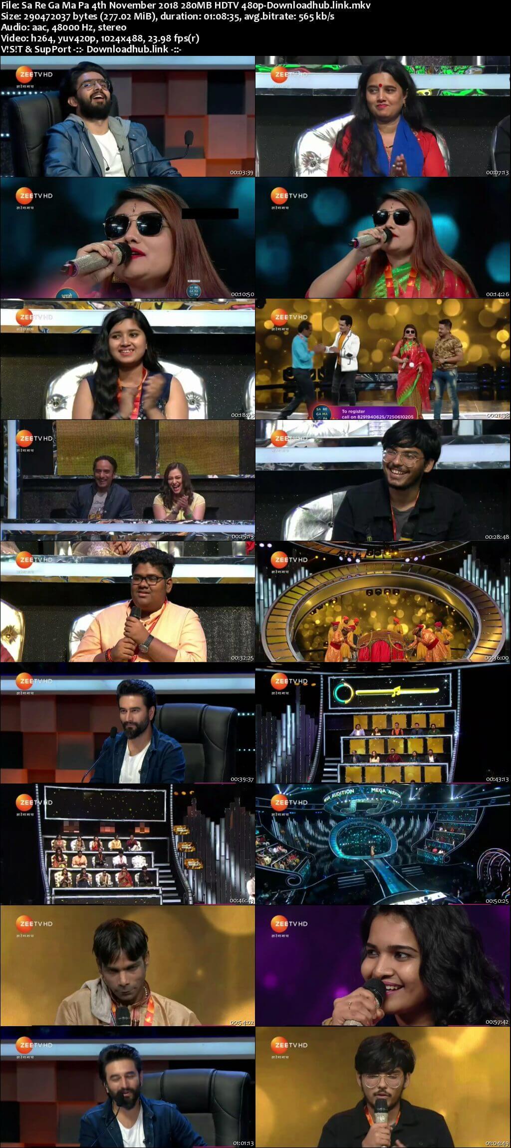 Sa Re Ga Ma Pa 04 November 2018 Episode 07 HDTV 480p
