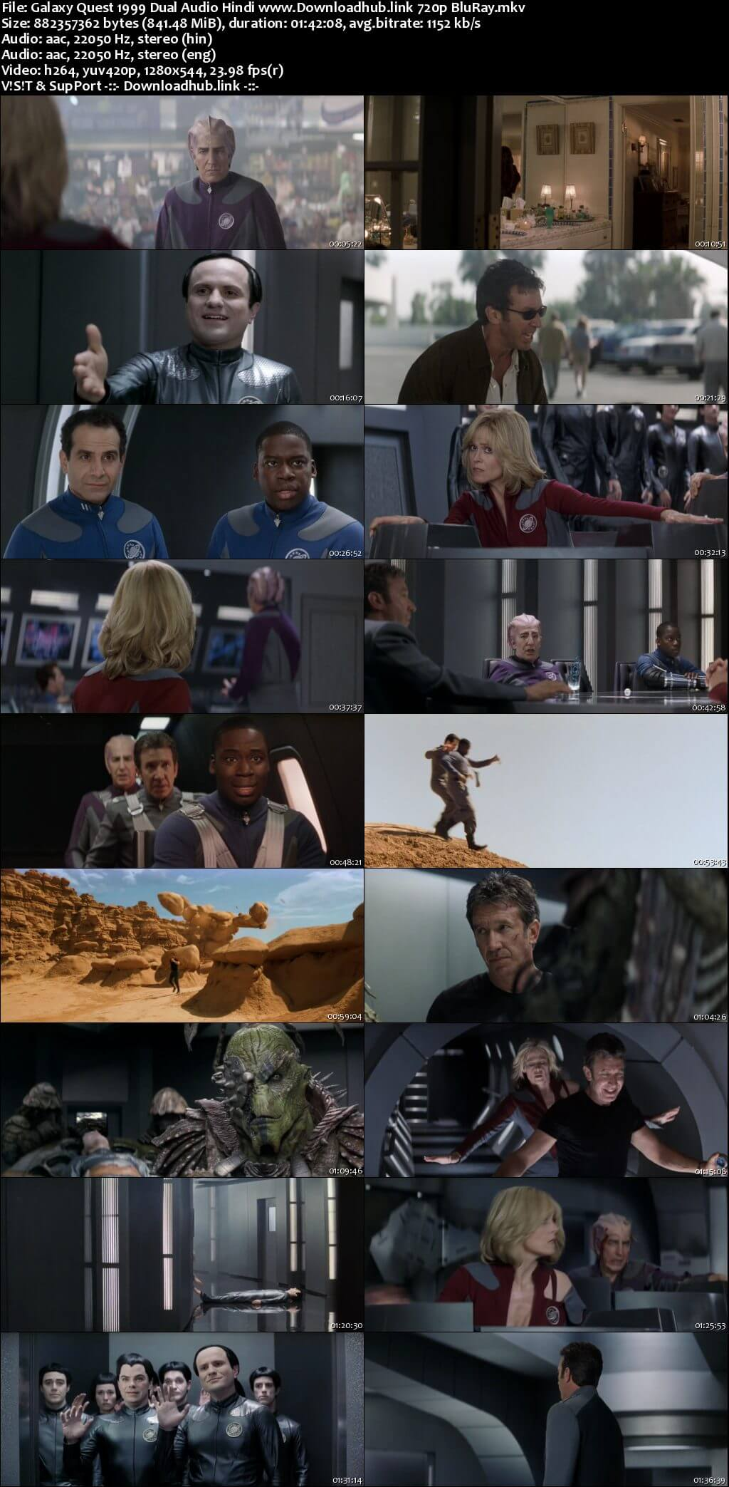 Galaxy Quest 1999 Hindi Dual Audio 720p BluRay ESubs