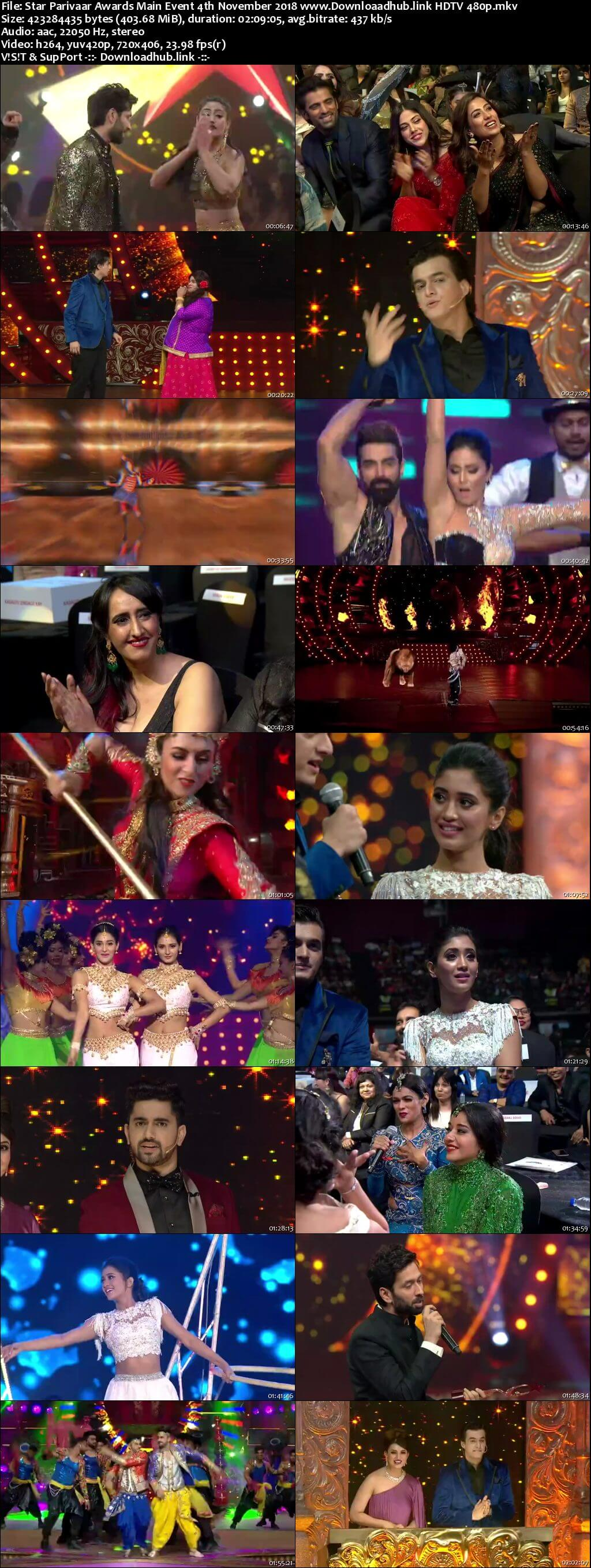 Star Parivaar Awards (Main Event) 4th November 2018 400MB HDTV 480p