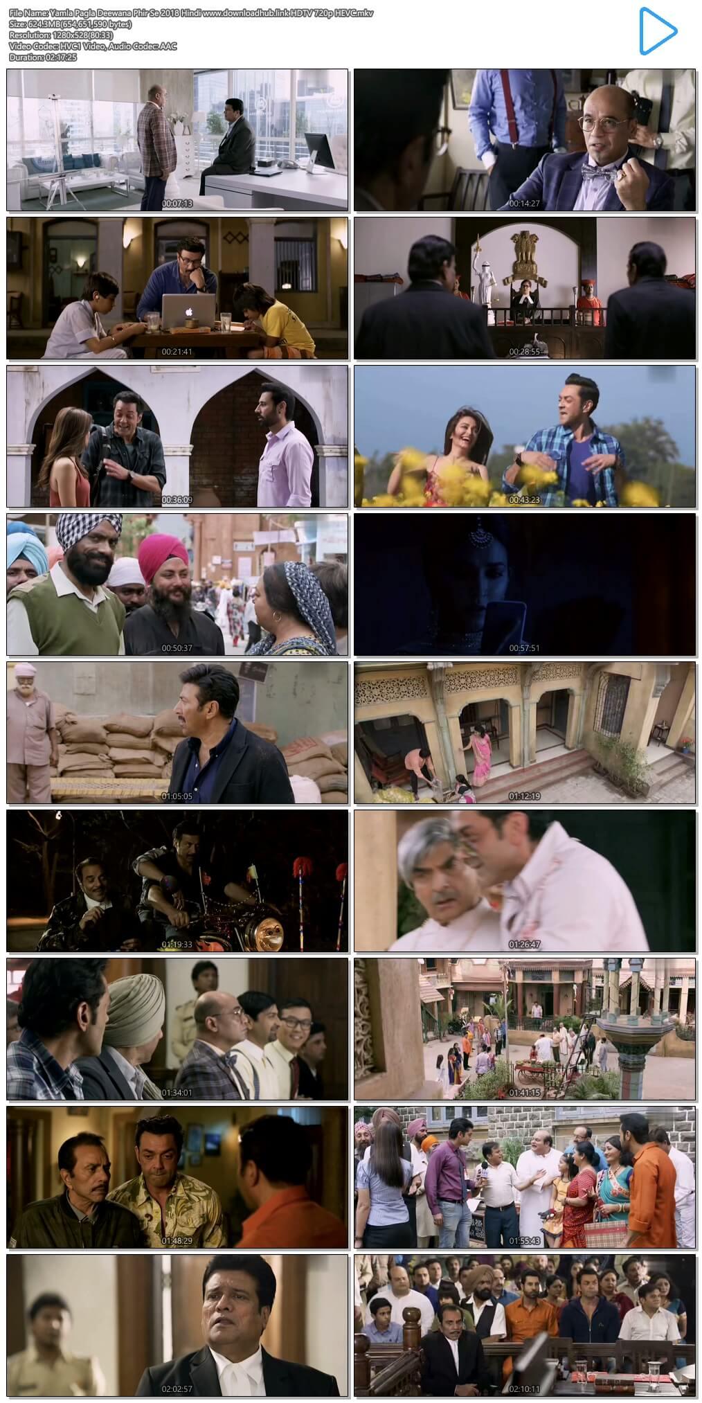 Yamla Pagla Deewana Phir Se 2018 Hindi 600MB HDTV 720p HEVC