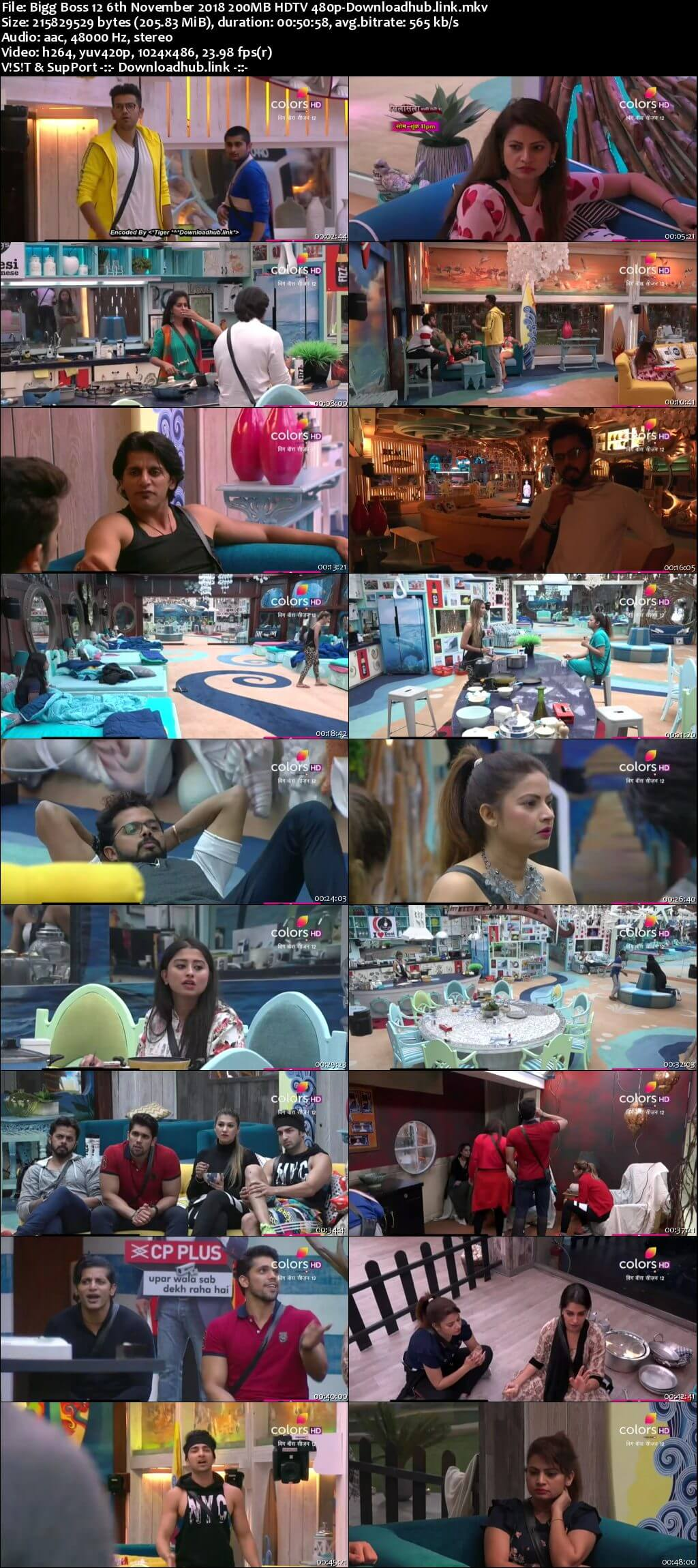 Bigg Boss 12 06 November 2018 Episode 51 HDTV 480p