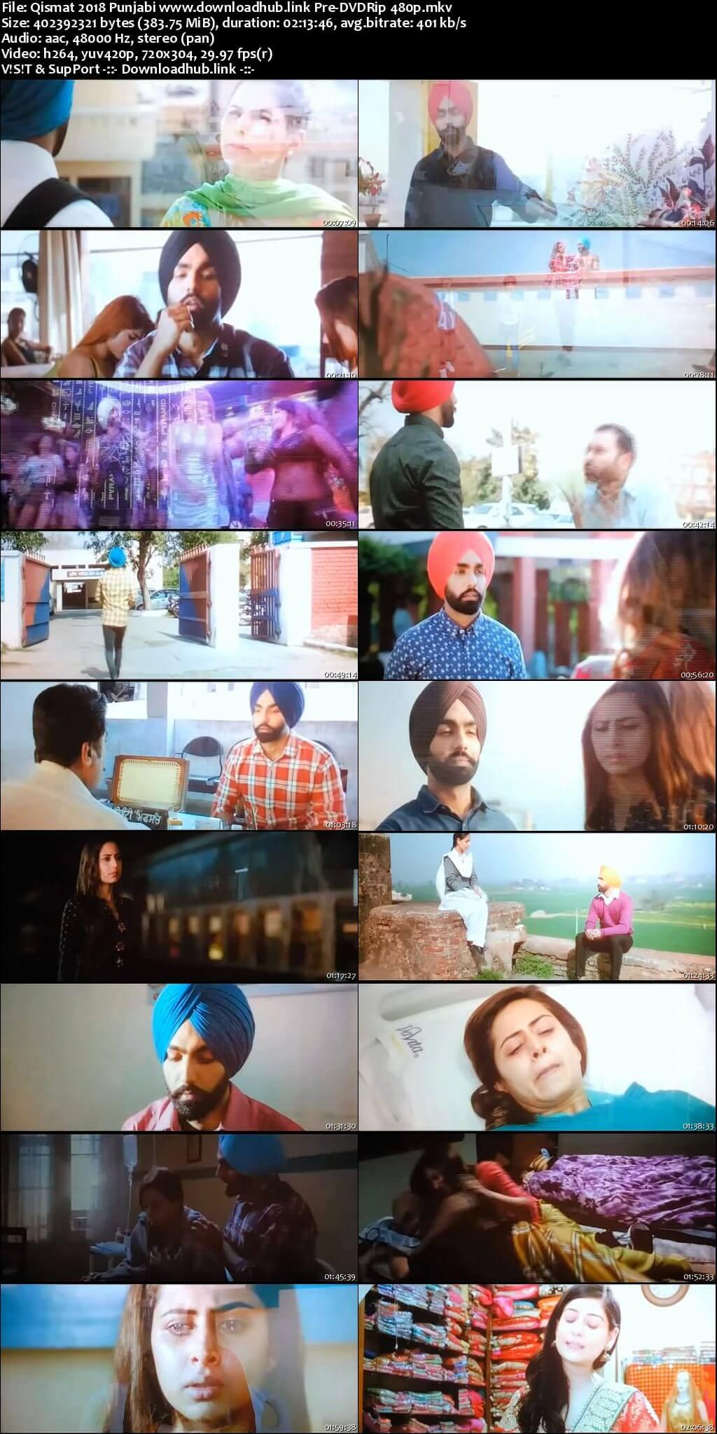 Qismat 2018 Punjabi 350MB Pre-DVDRip 480p
