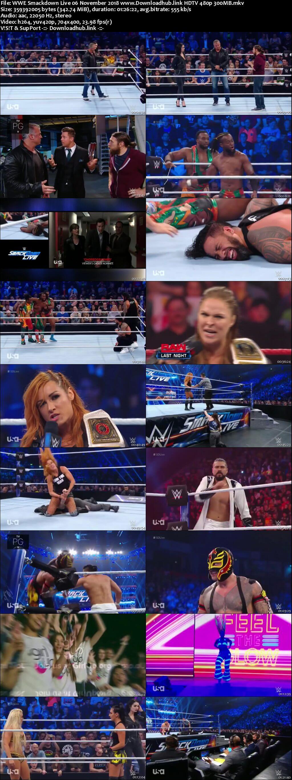 WWE Smackdown Live 6th November 2018 300MB HDTV 480p