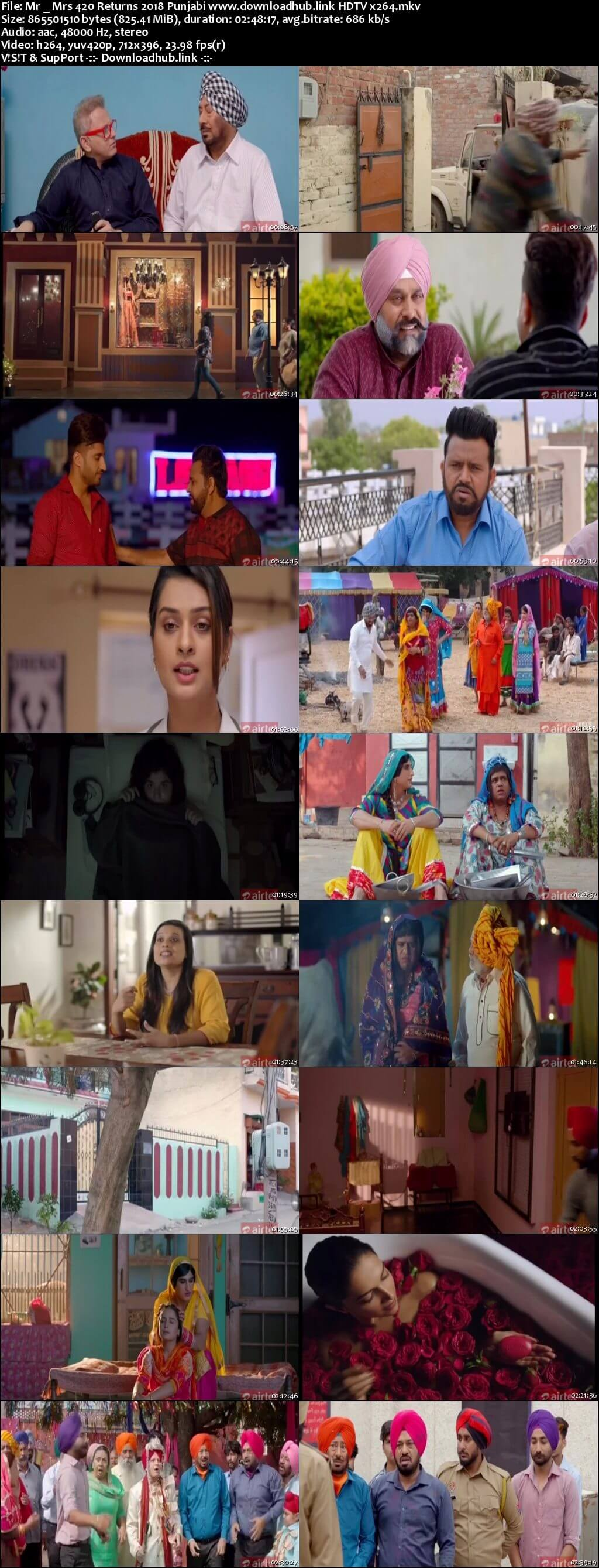 Mr & Mrs 420 Returns 2018 Punjabi 800MB HDTV x264