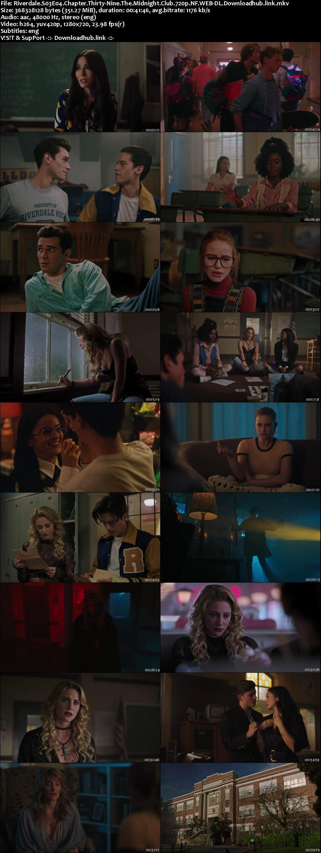 Riverdale S03E04 350MB AMZN WEB-DL 720p ESubs