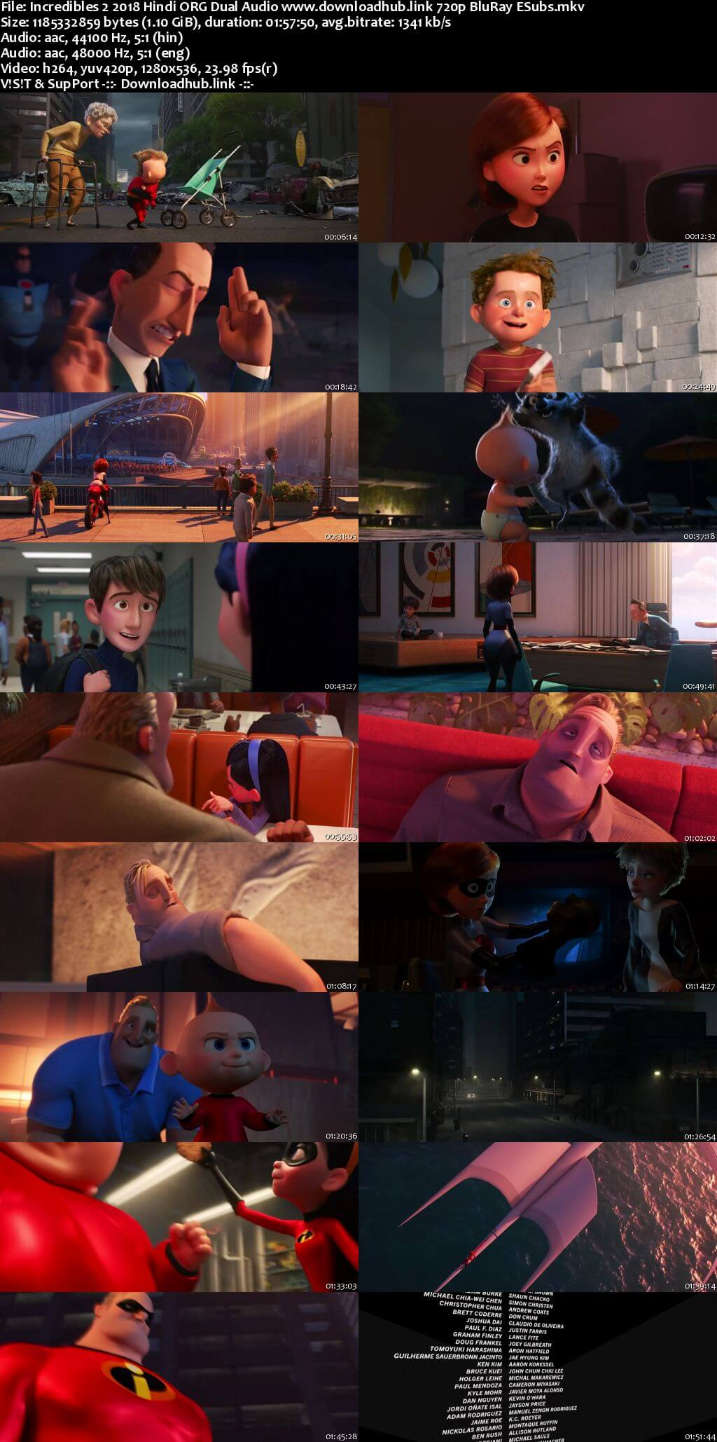 Incredibles 2 2018 Hindi ORG Dual Audio 720p BluRay ESubs