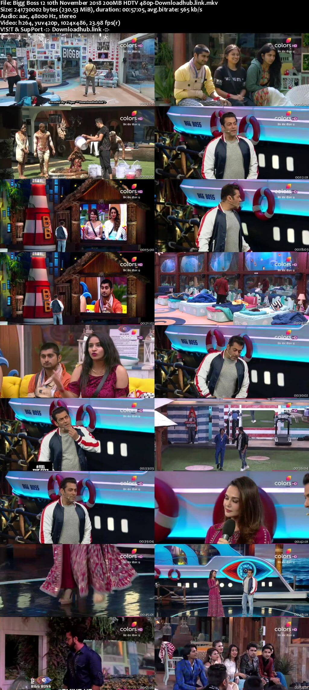 Bigg Boss 12 10 November 2018 Episode 55 HDTV 480p