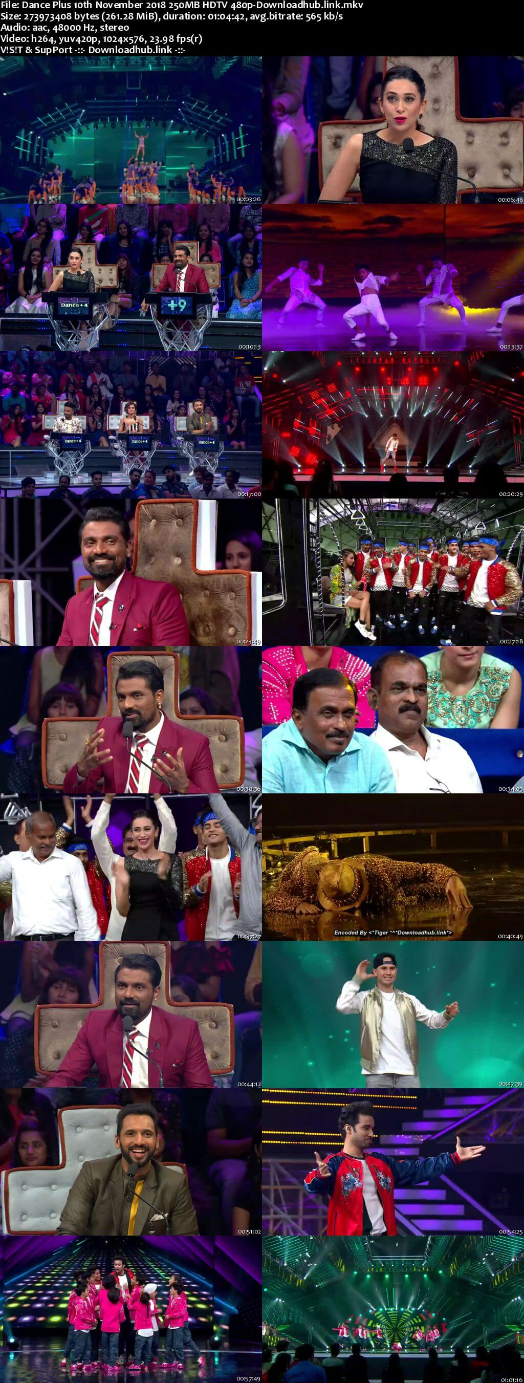Dance Plus Season 4 10 November 2018 Episode 10 HDTV 480p