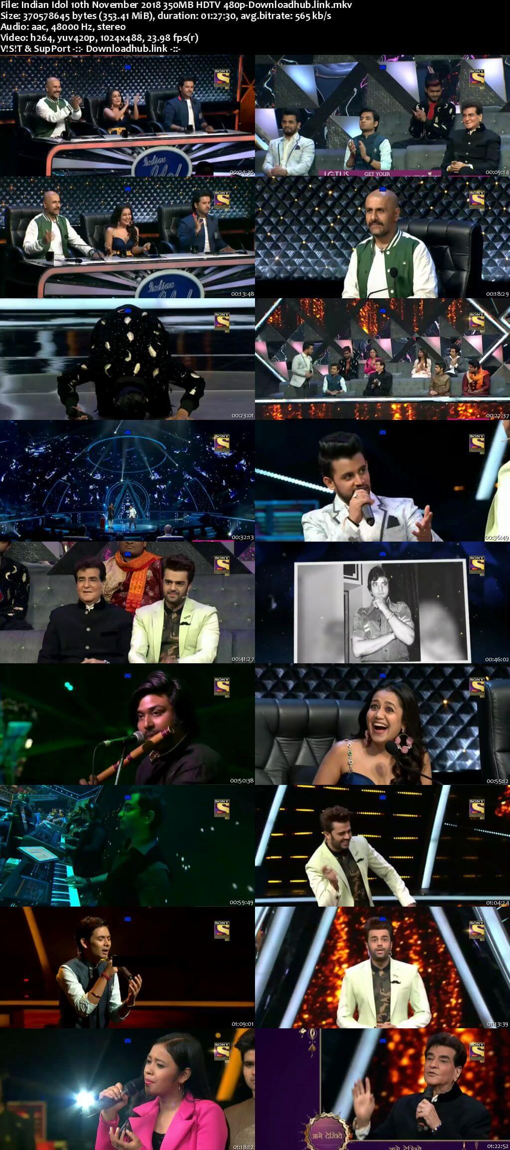 Indian Idol 10 November 2018 Episode 37 HDTV 480p