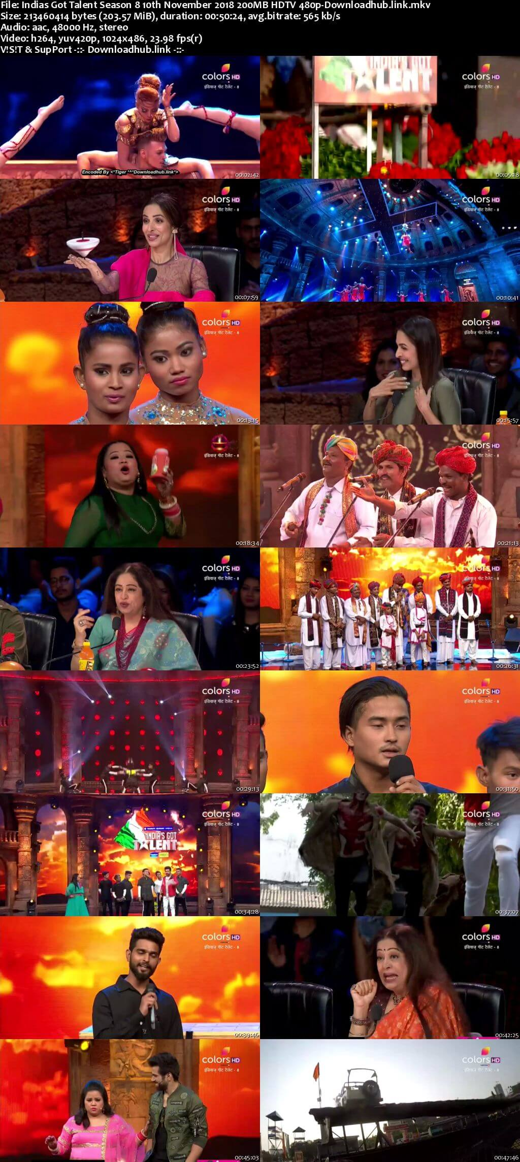 Indias Got Talent Season 8 10 November 2018 Episode 07 HDTV 480p