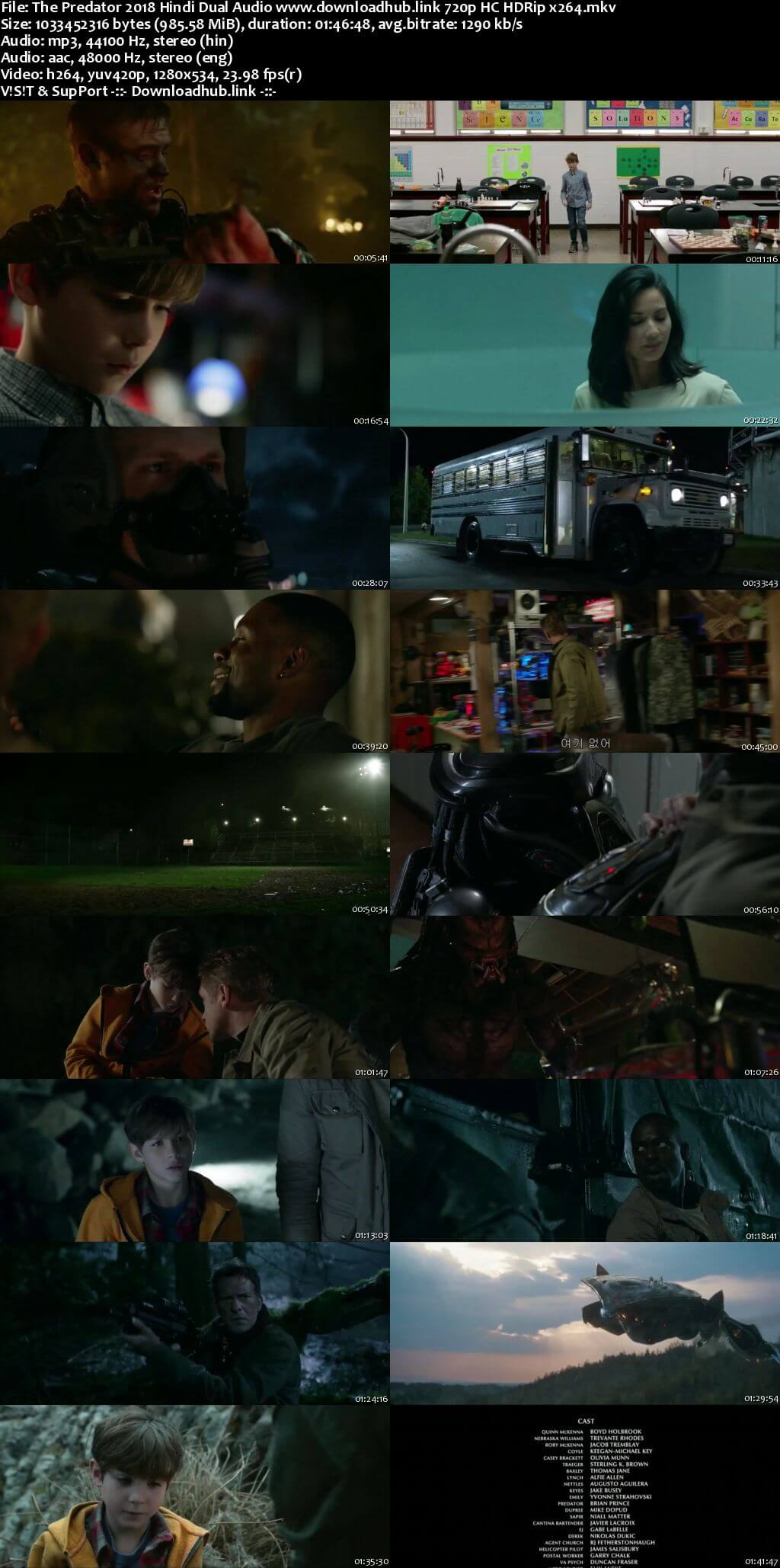 The Predator 2018 Hindi Dual Audio 720p HC HDRip x264