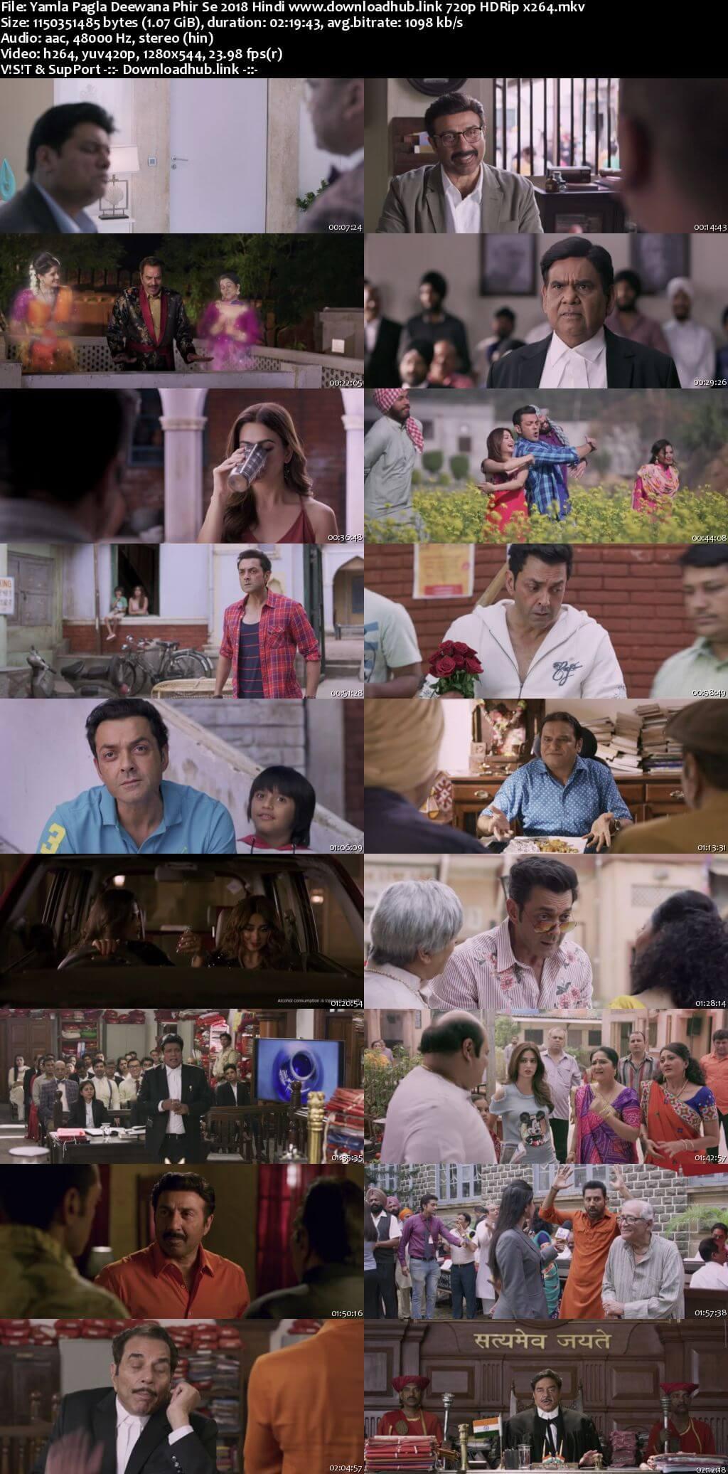 Yamla Pagla Deewana Phir Se 2018 Hindi 720p HDRip x264