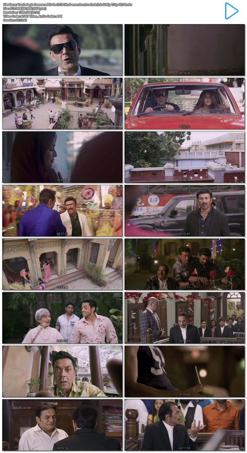 Yamla Pagla Deewana Phir Se 2018 Hindi 650MB HDRip 720p HEVC