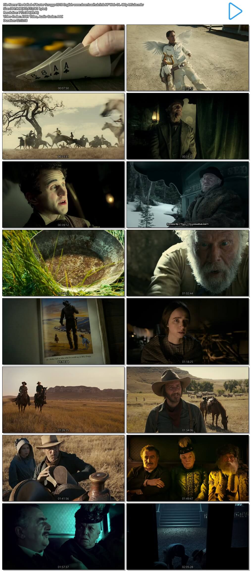 The Ballad of Buster Scruggs 2018 English 350MB NF Web-DL 480p MSubs