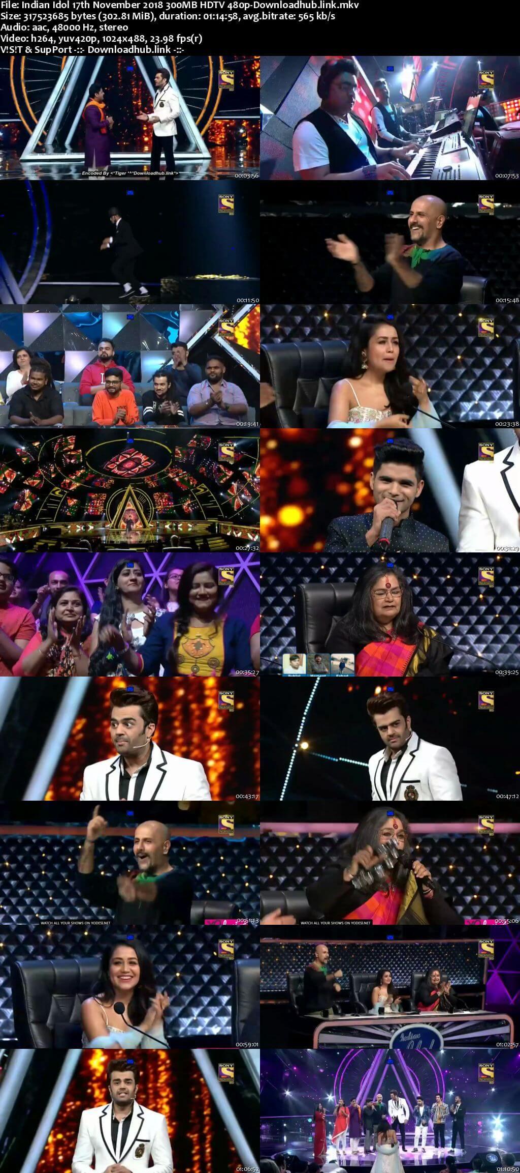 Indian Idol 17 November 2018 Episode 39 HDTV 480p