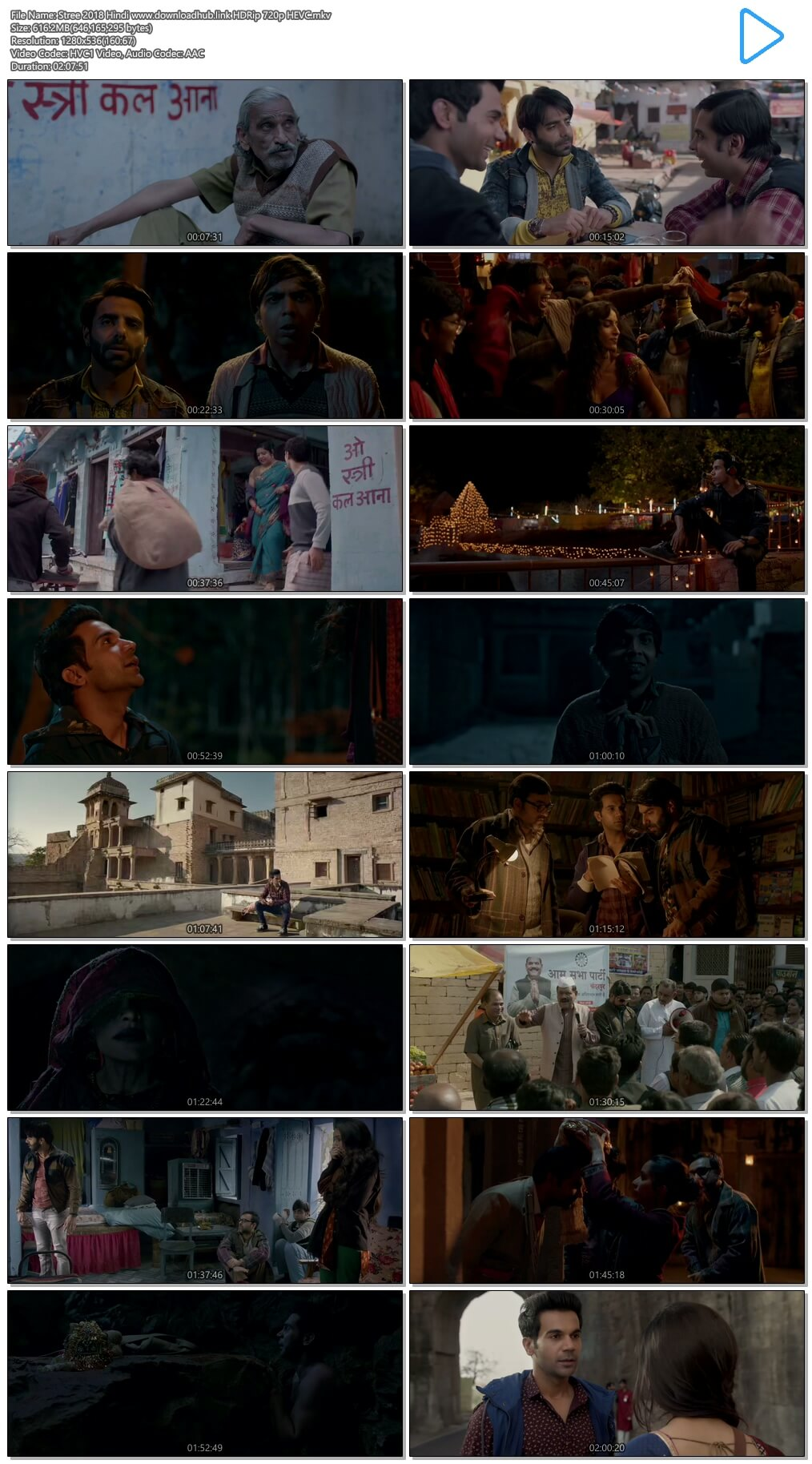 Stree 2018 Hindi 600MB HDRip 720p HEVC