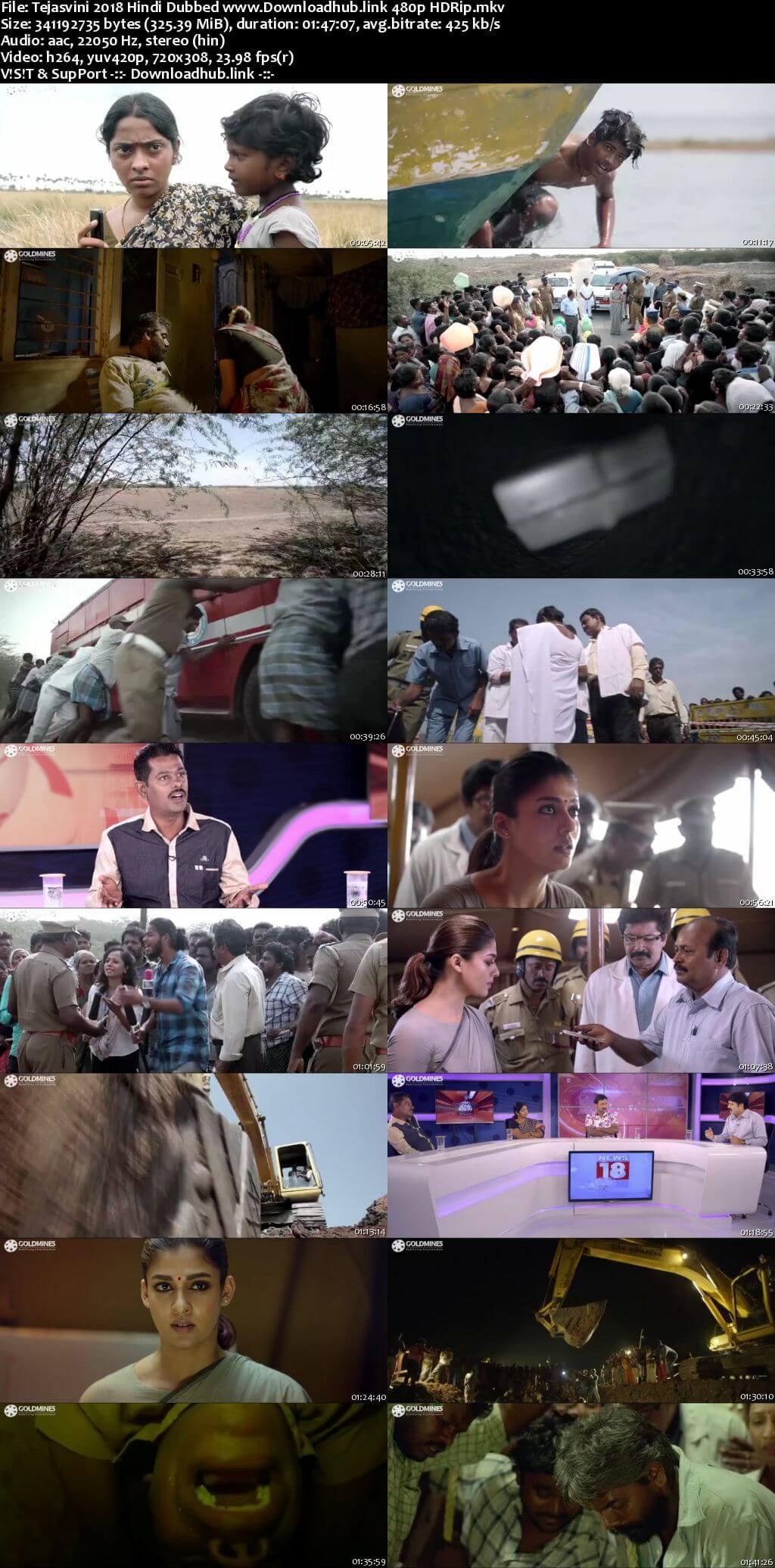 Tejasvini 2018 Hindi Dubbed 300MB HDRip 480p