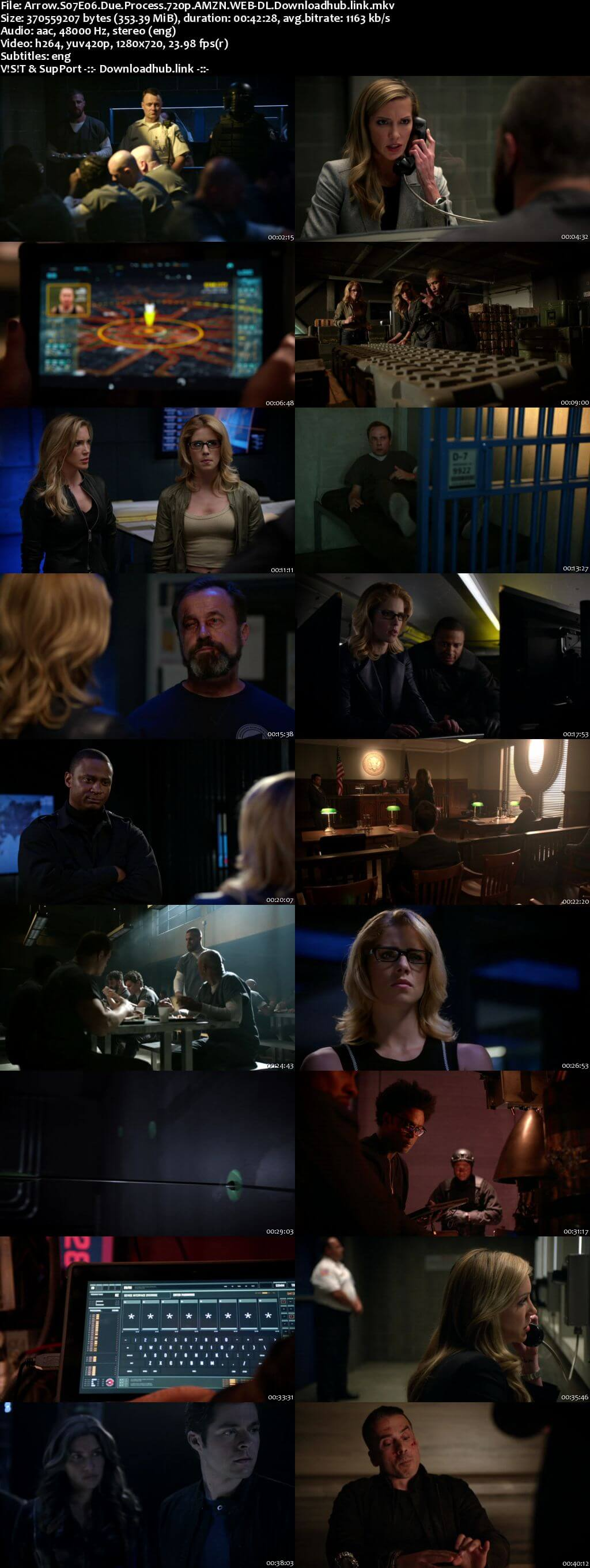 Arrow S07E06 350MB AMZN Web-DL 720p ESubs